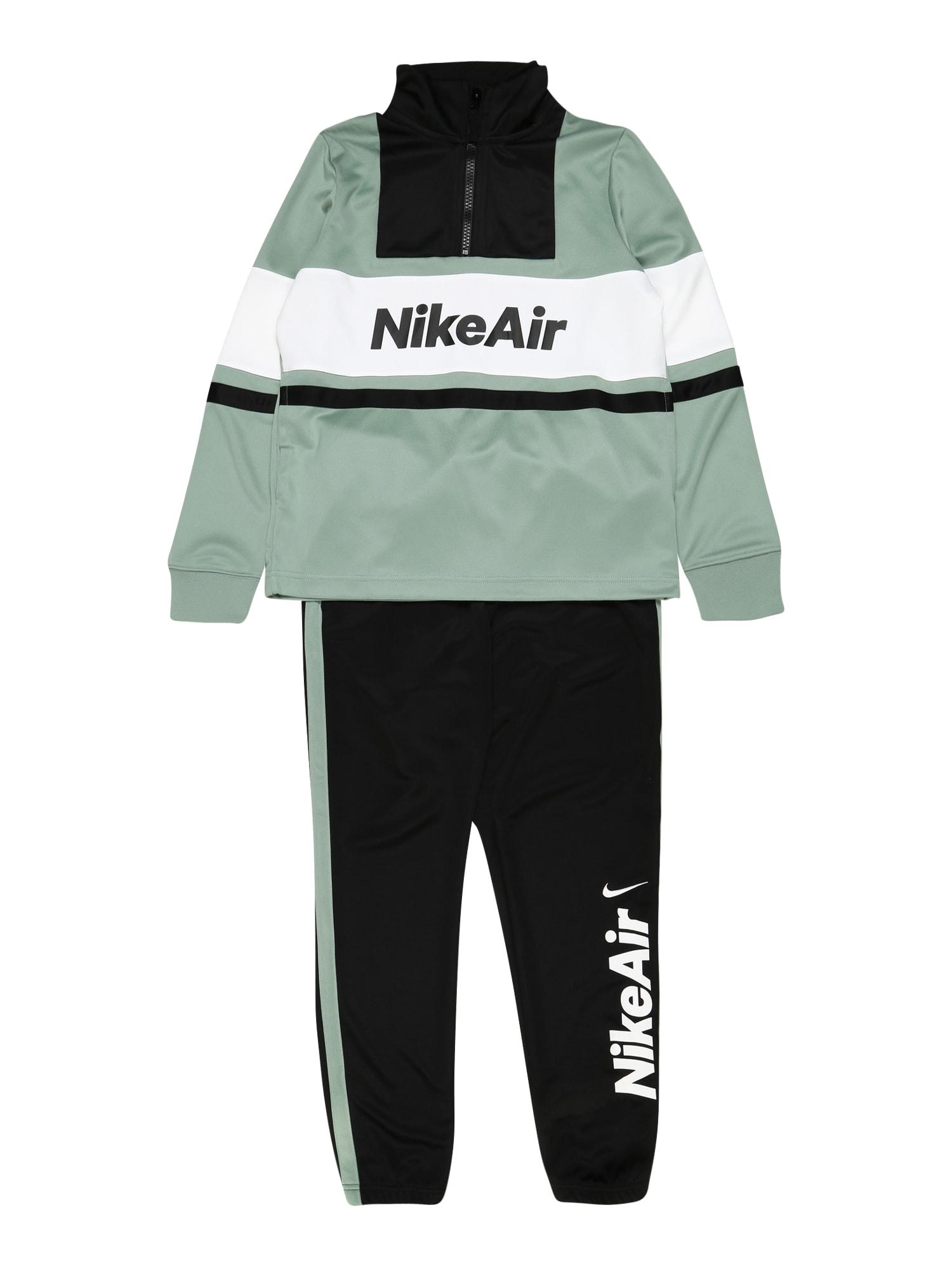 Nike Sportswear Tréningový komplet  biela / mätová / čierna