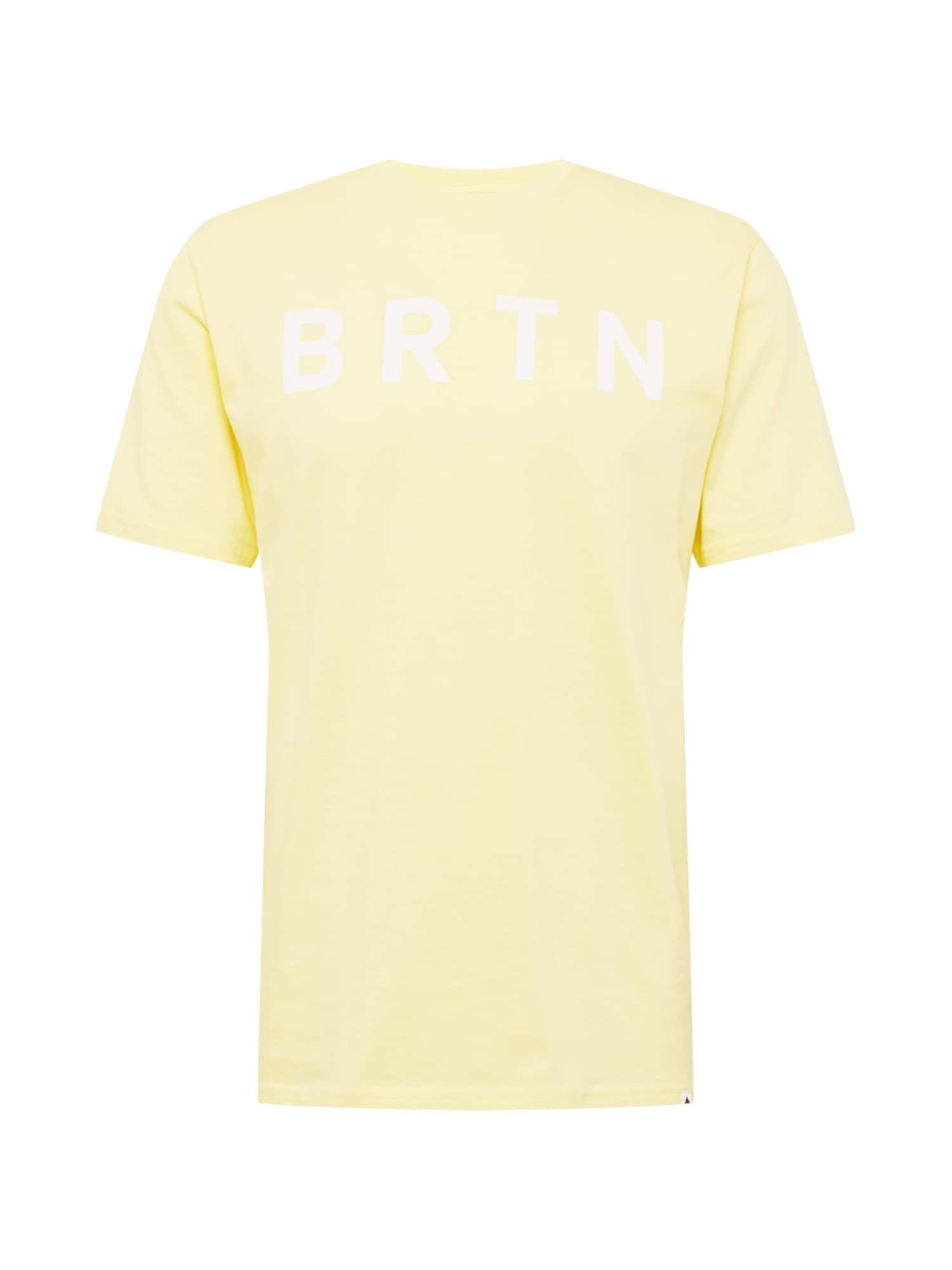 BURTON Marškinėliai šviesiai geltona / šviesiai mėlyna