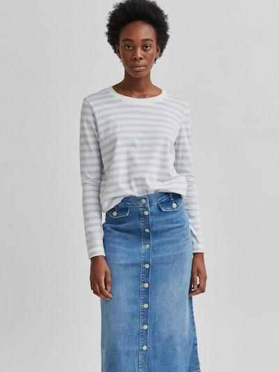 Selected Femme Curve Standard Stripe Langarm-Top