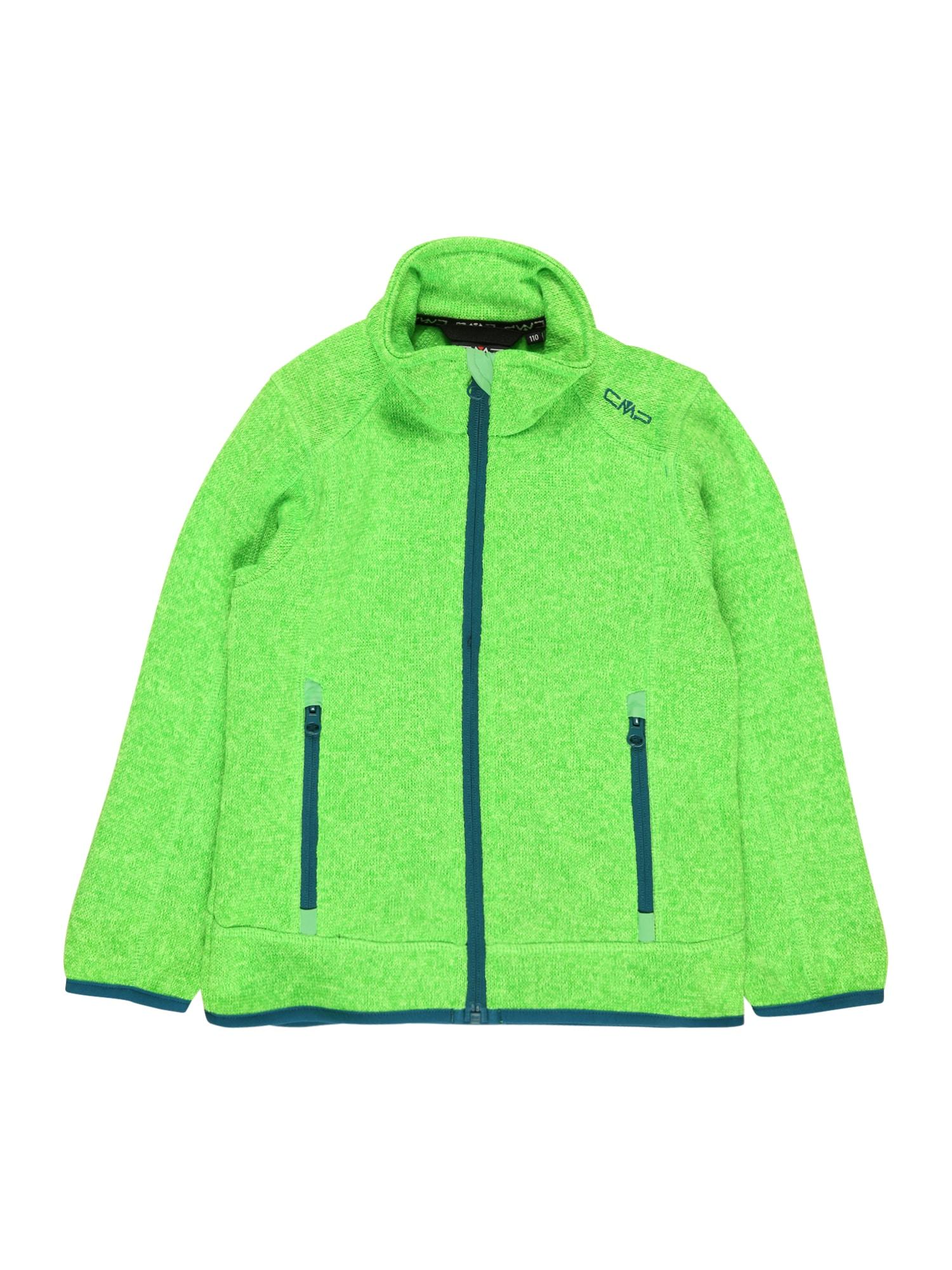 CMP Funkcinis flisinis džemperis šviesiai žalia / tamsiai mėlyna