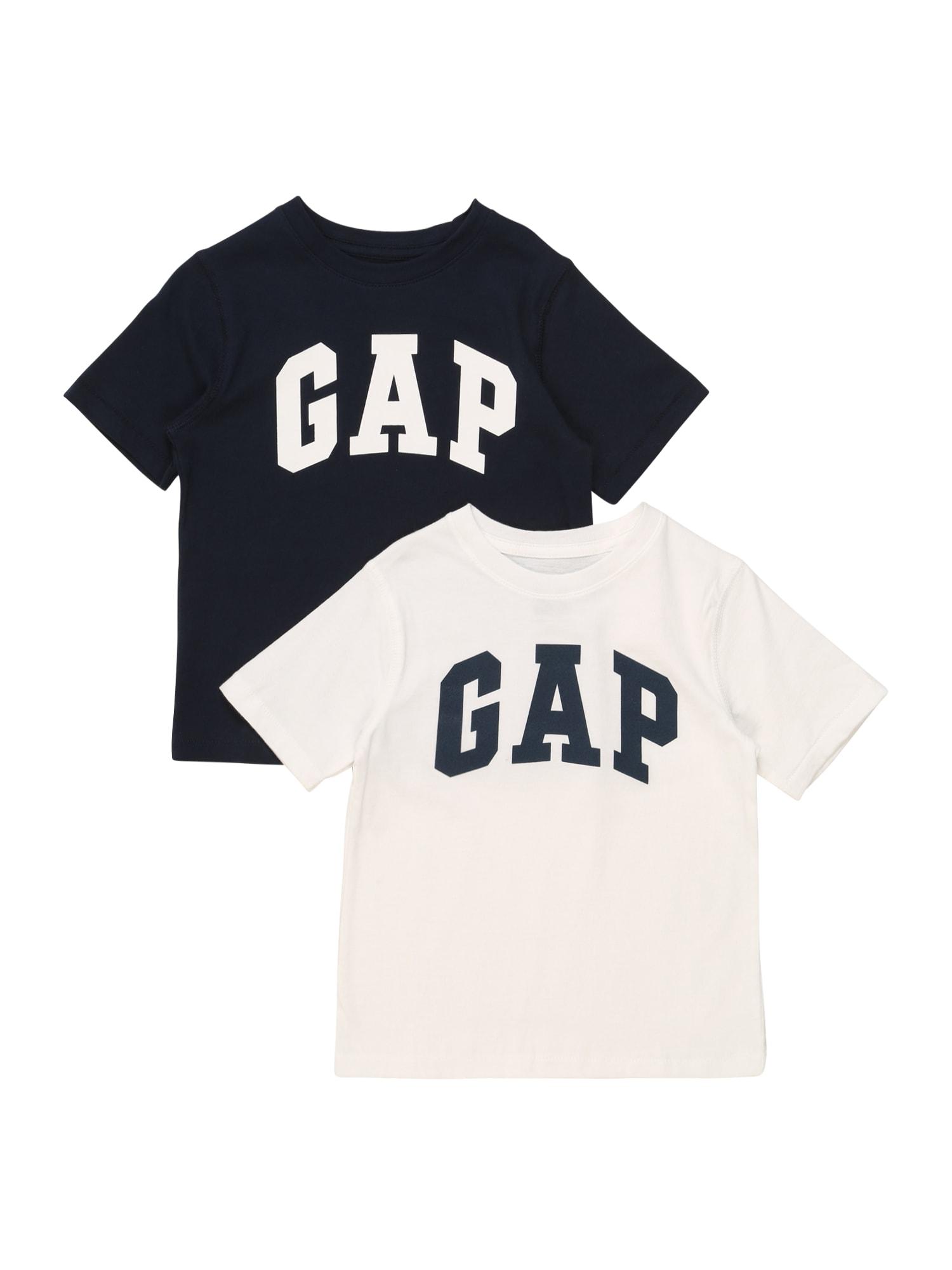 GAP Marškinėliai tamsiai mėlyna / natūrali balta