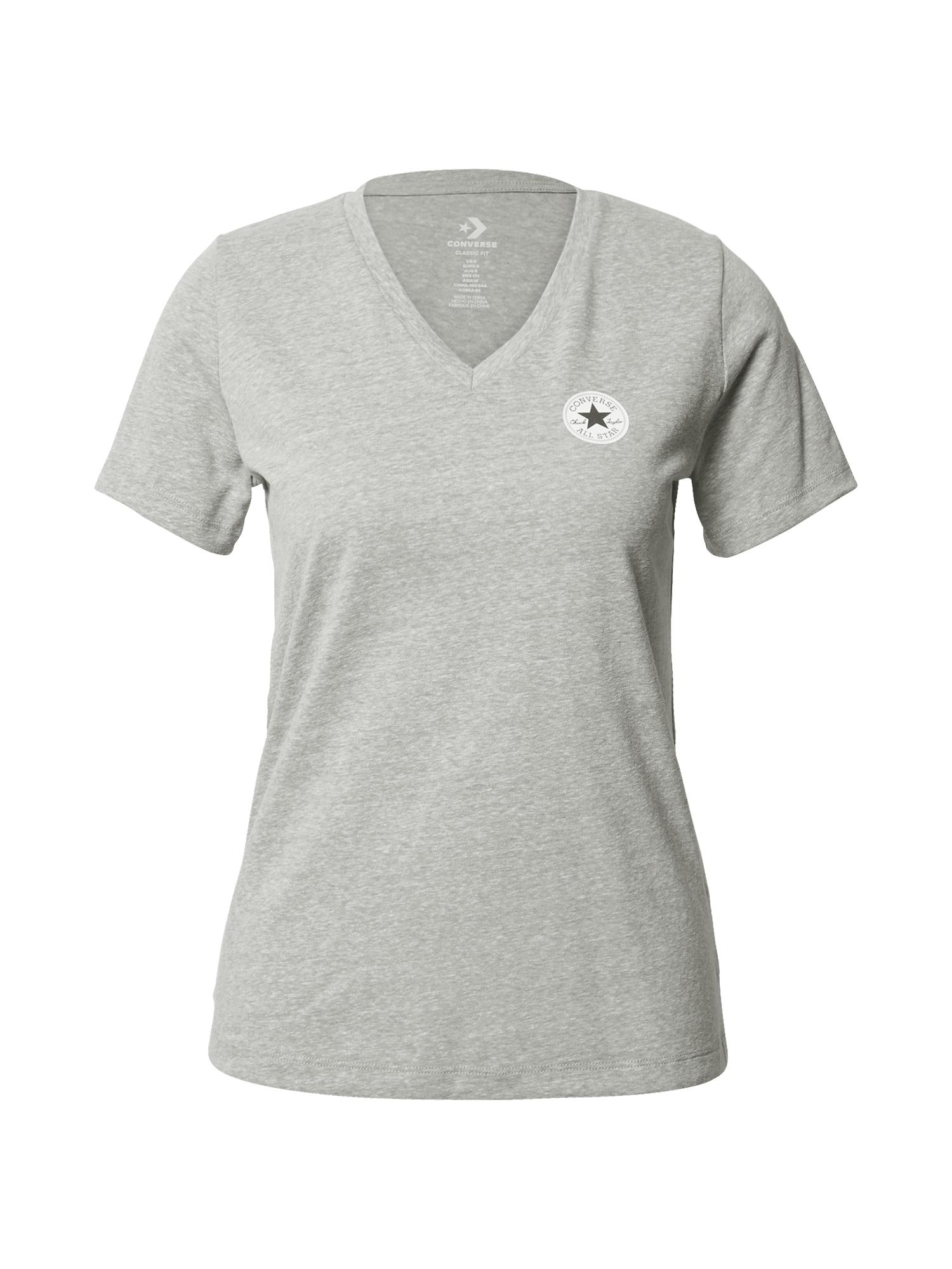 CONVERSE Marškinėliai margai pilka / balta