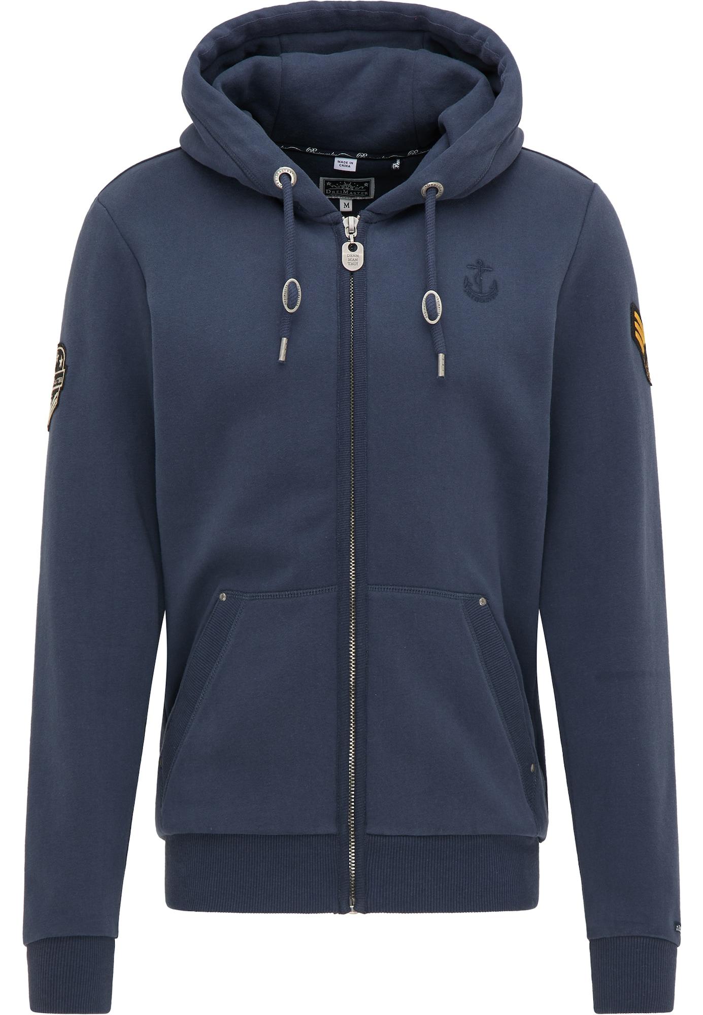 DreiMaster Maritim Džemperis tamsiai mėlyna jūros spalva / aukso geltonumo spalva / juoda