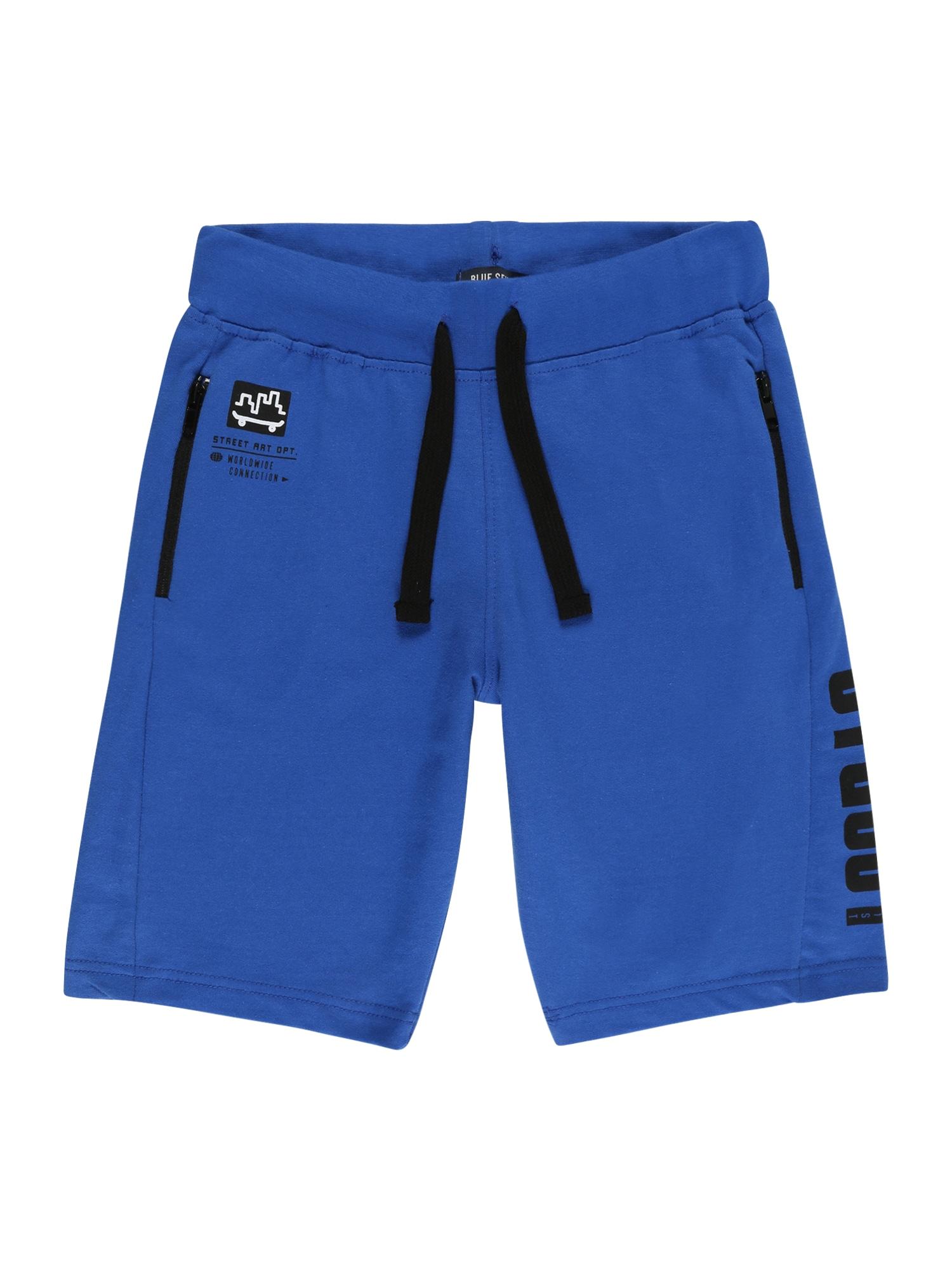 BLUE SEVEN Kelnės benzino spalva / juoda