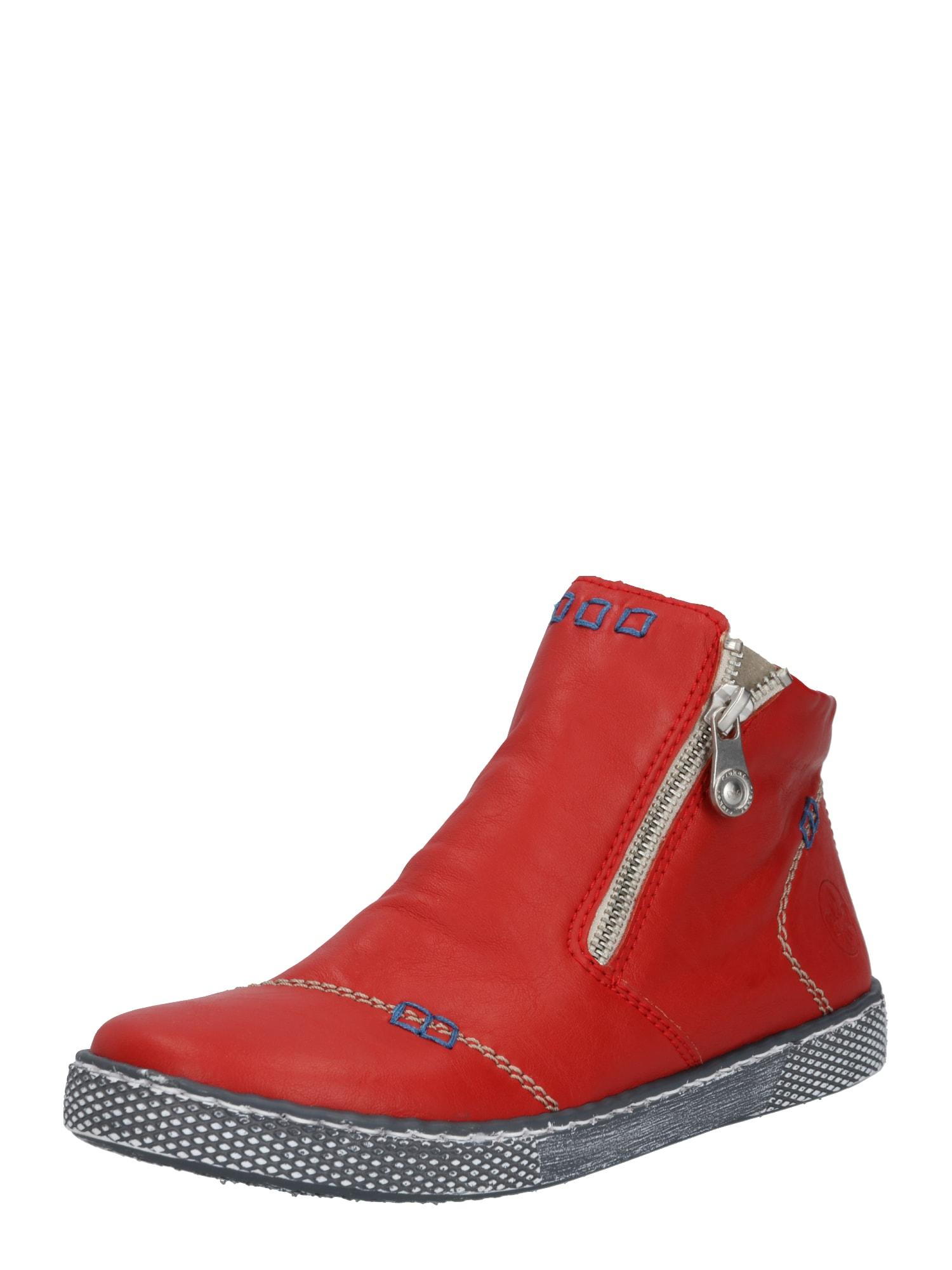 RIEKER Kulkšnis dengiantys batai šviesiai raudona