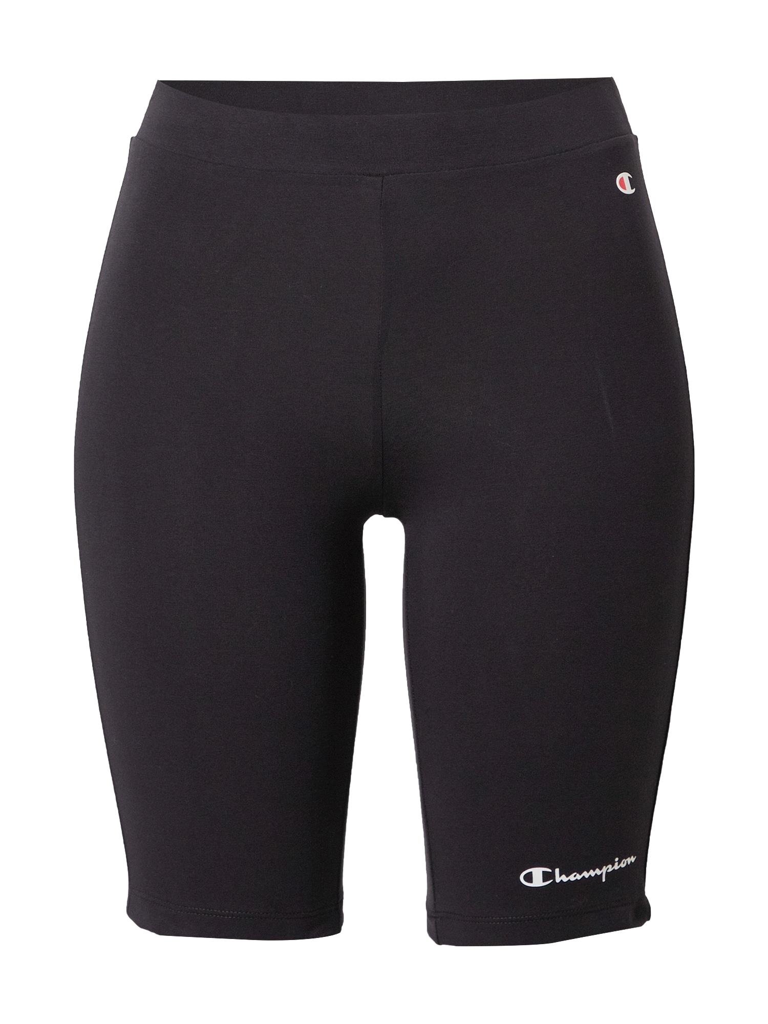 Champion Authentic Athletic Apparel Sportinės kelnės juoda / balta / ugnies raudona