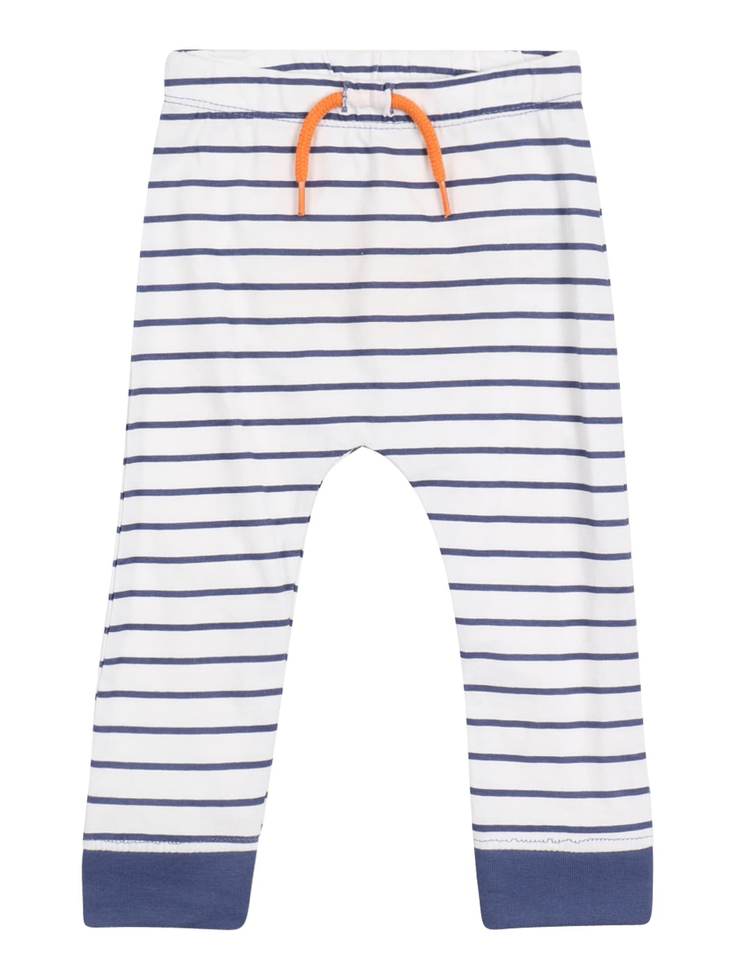 BLUE SEVEN Kelnės balta / mėlyna dūmų spalva / oranžinė