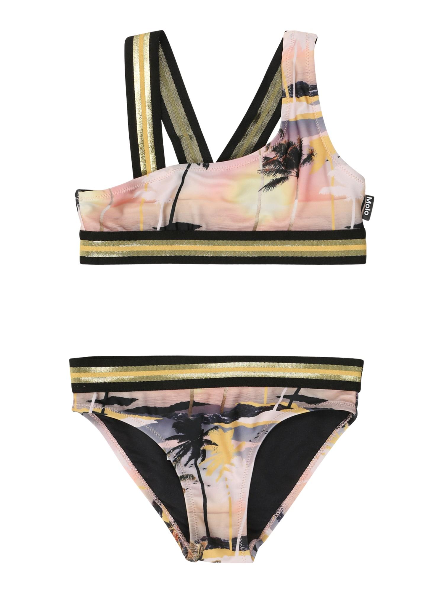 Molo Bikinis 'Nicola' juoda / rožių spalva / pastelinė geltona / pastelinė rožinė