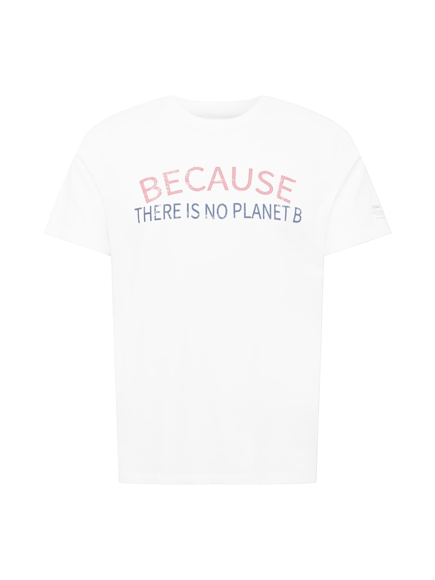 ECOALF Marškinėliai balkšva / tamsiai mėlyna / rožinė