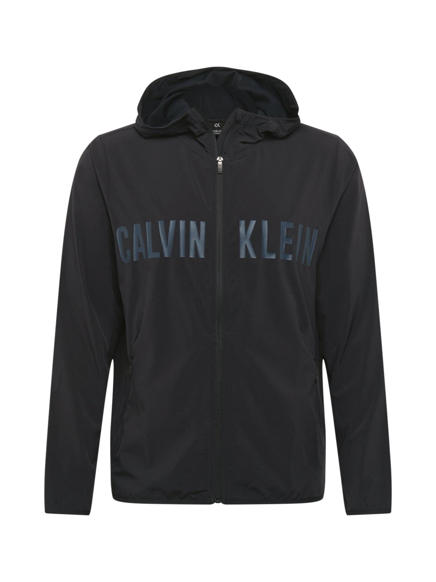 Calvin Klein Performance Sportinis džemperis juoda / nakties mėlyna
