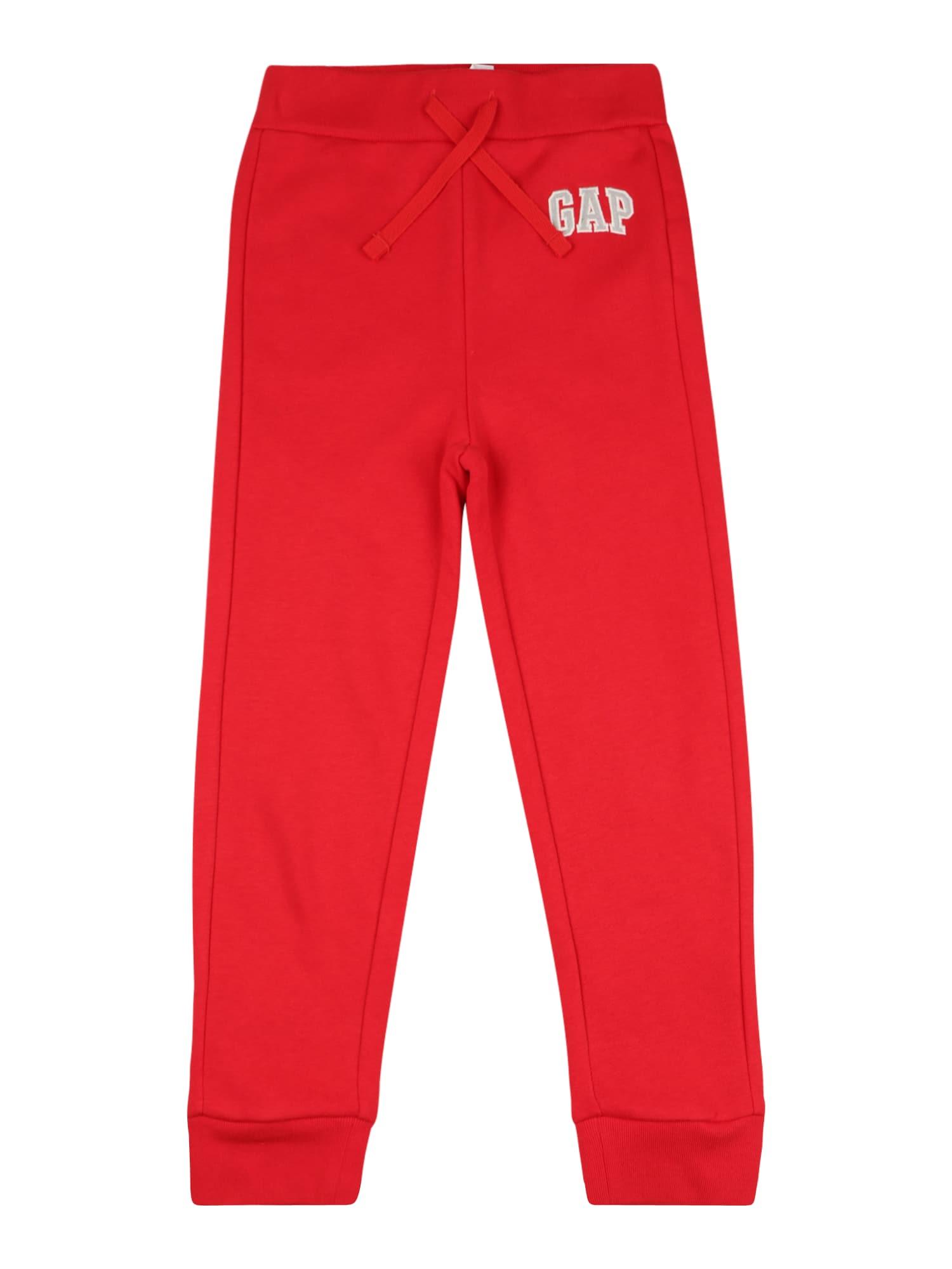 GAP Kelnės raudona / balta / šviesiai pilka
