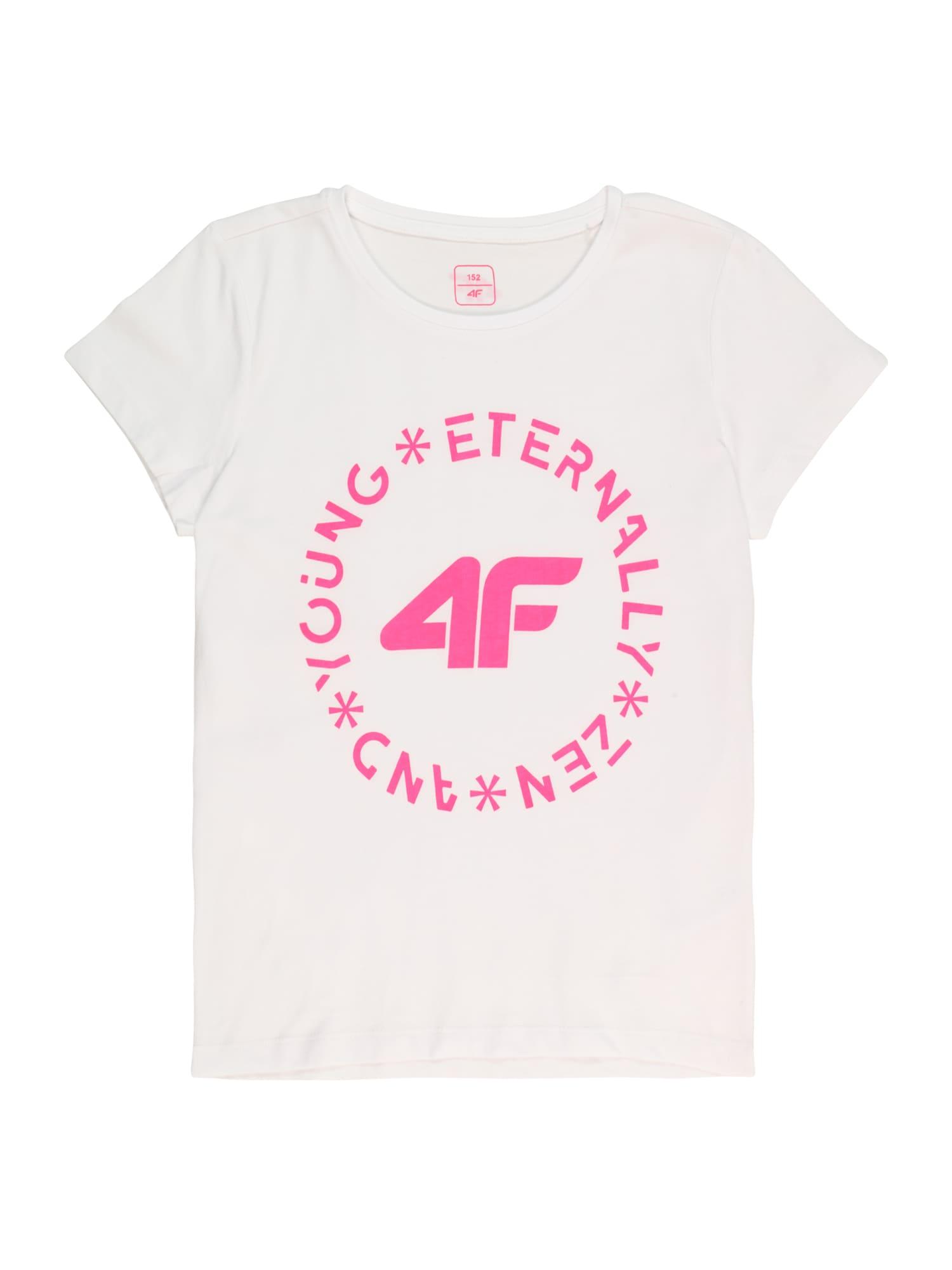 4F Sportiniai marškinėliai balta / pitajų spalva
