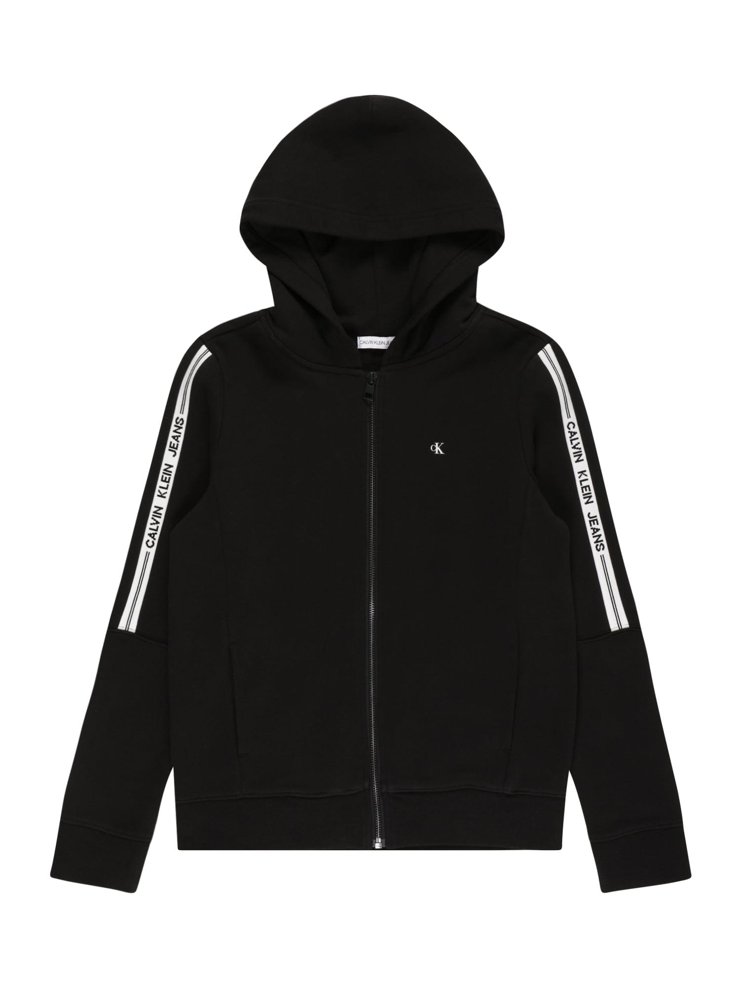 Calvin Klein Jeans Džemperis juoda / balta