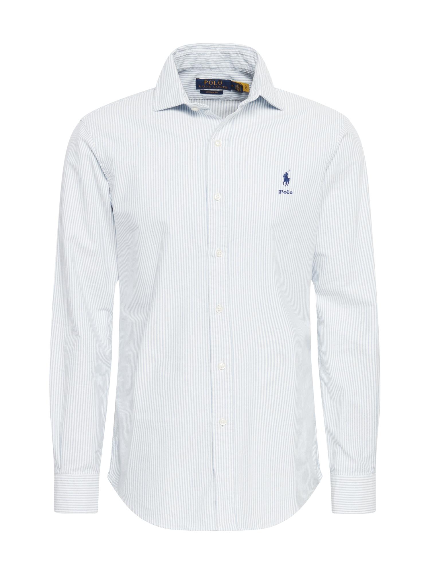 POLO RALPH LAUREN Marškiniai balta / mėlyna