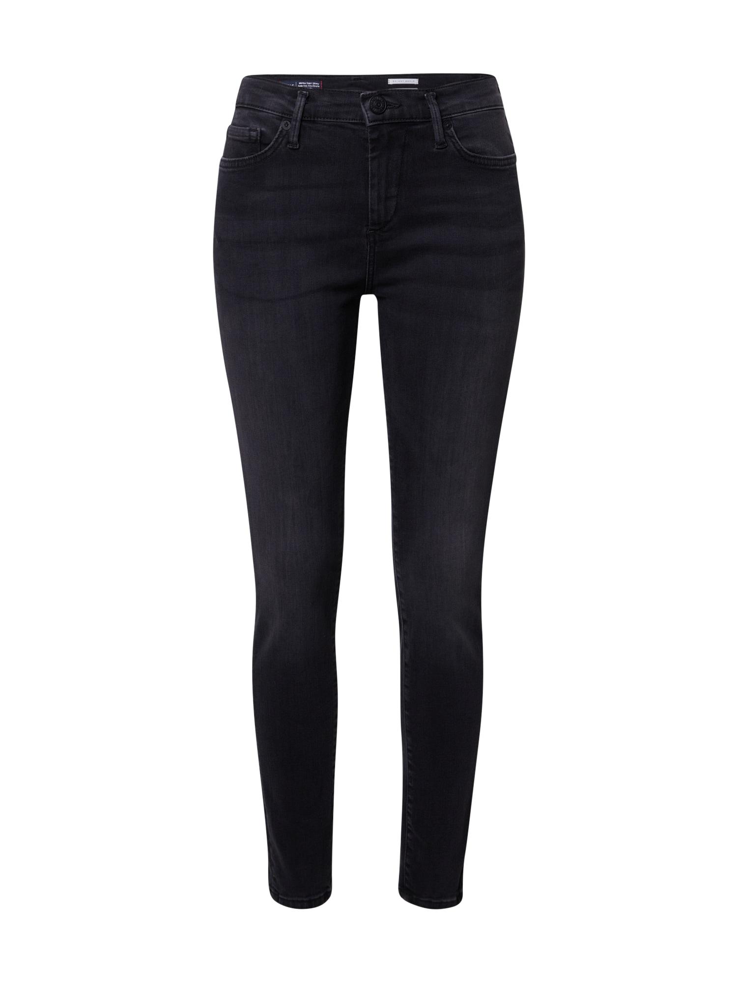 True Religion Džinsai juodo džinso spalva