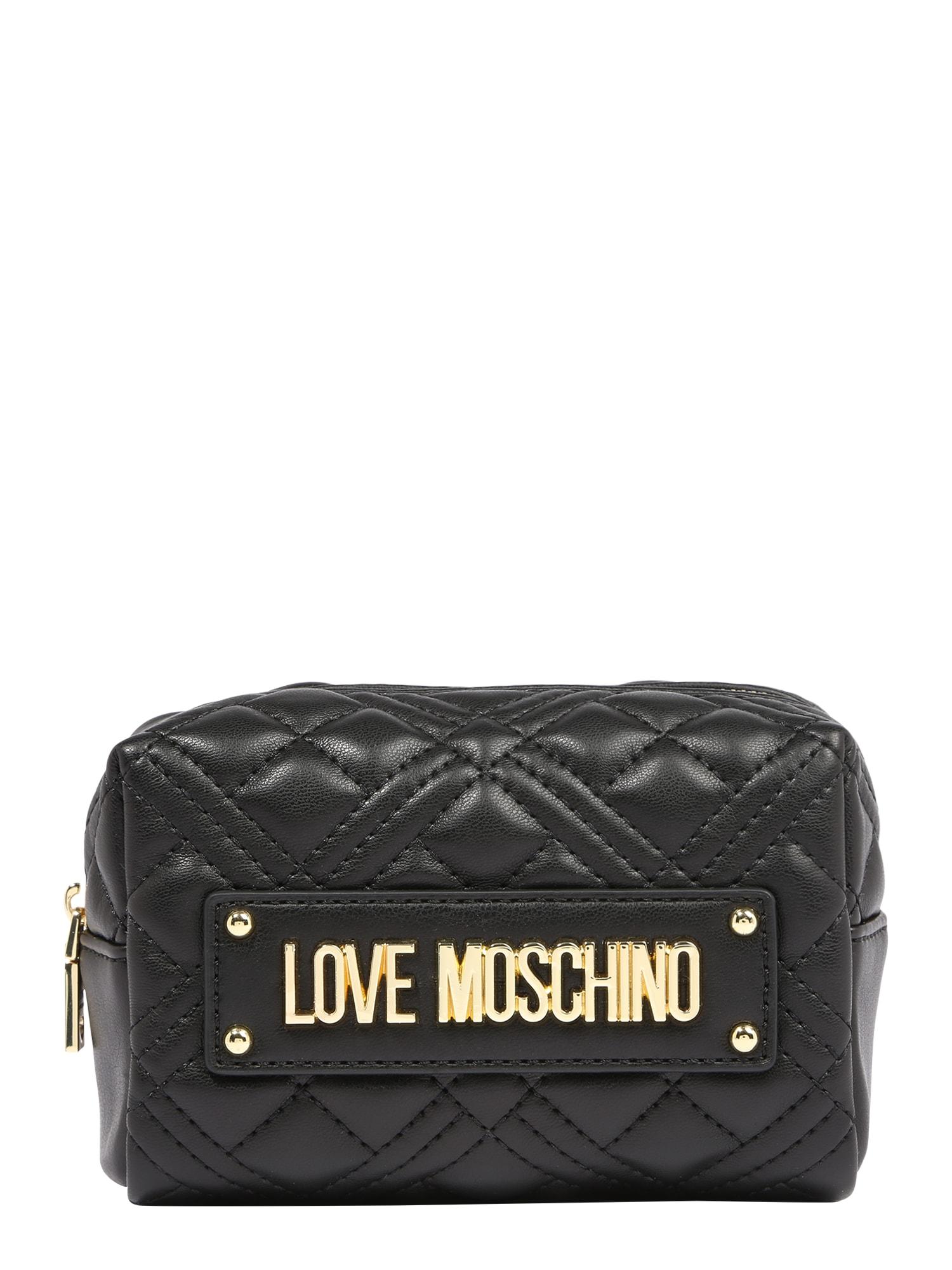 Love Moschino Kosmetinė juoda / auksas