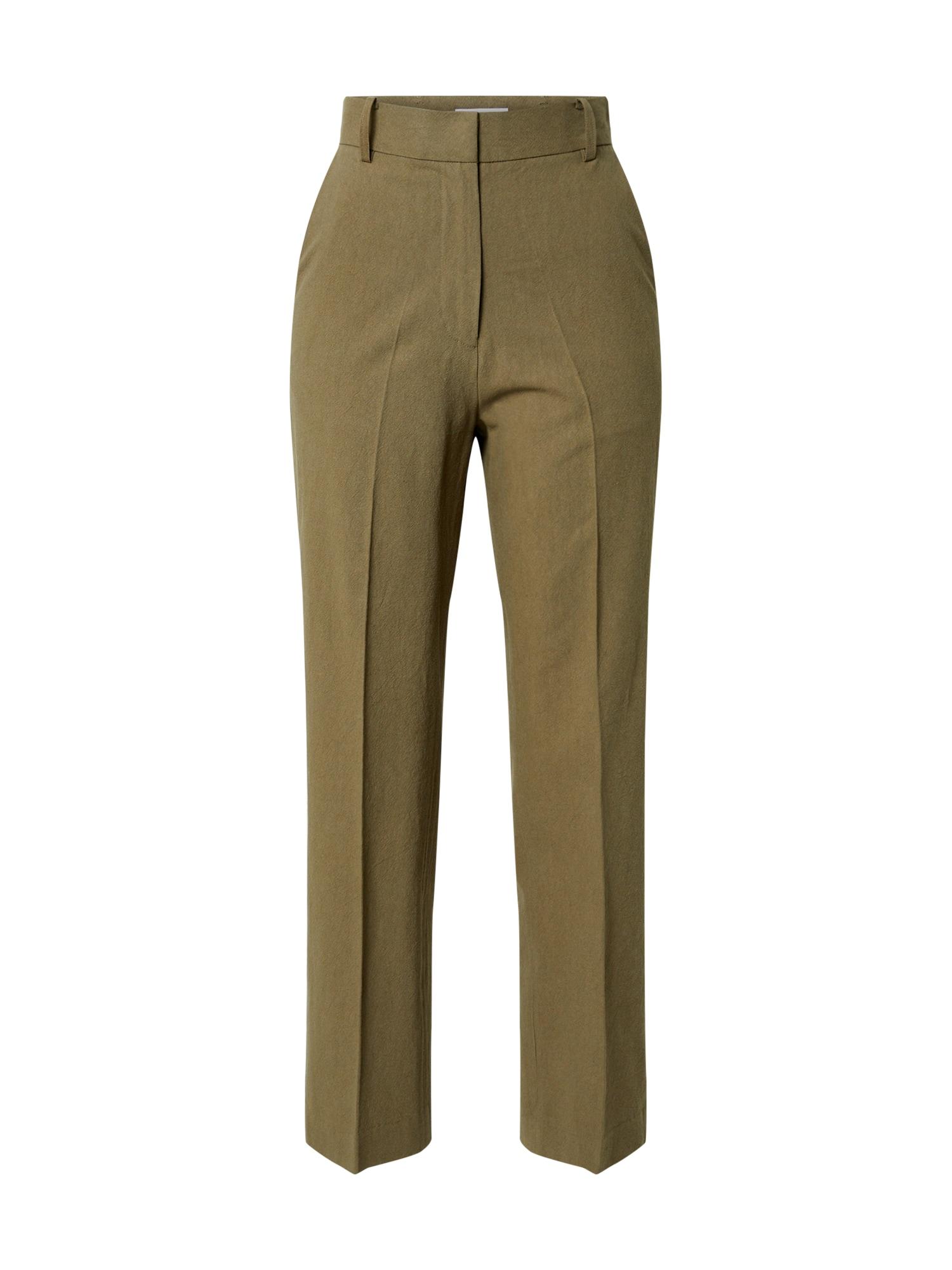 EDITED Kelnės su kantu 'Leona' alyvuogių spalva