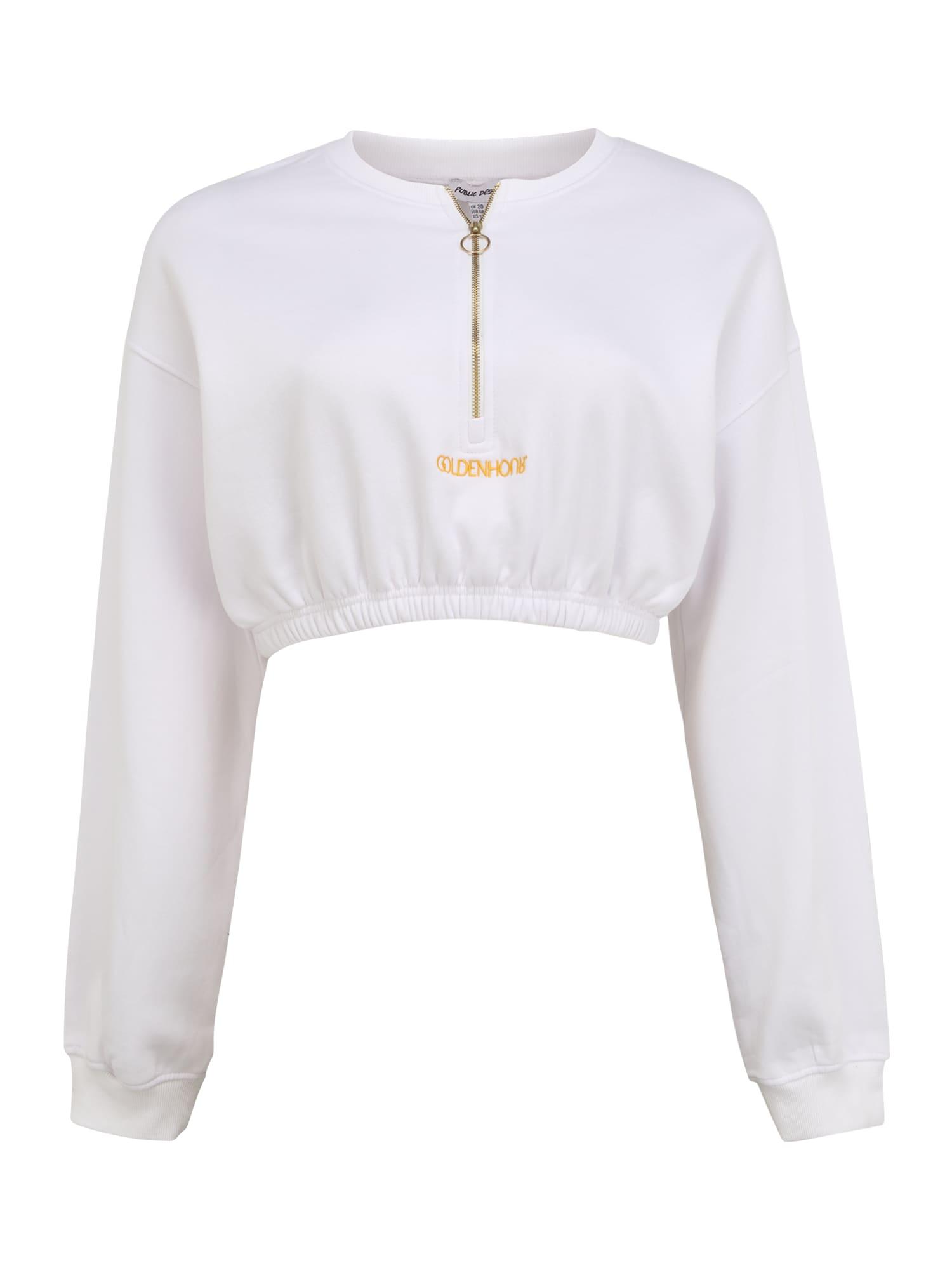 Public Desire Curve Marškinėliai natūrali balta / oranžinė