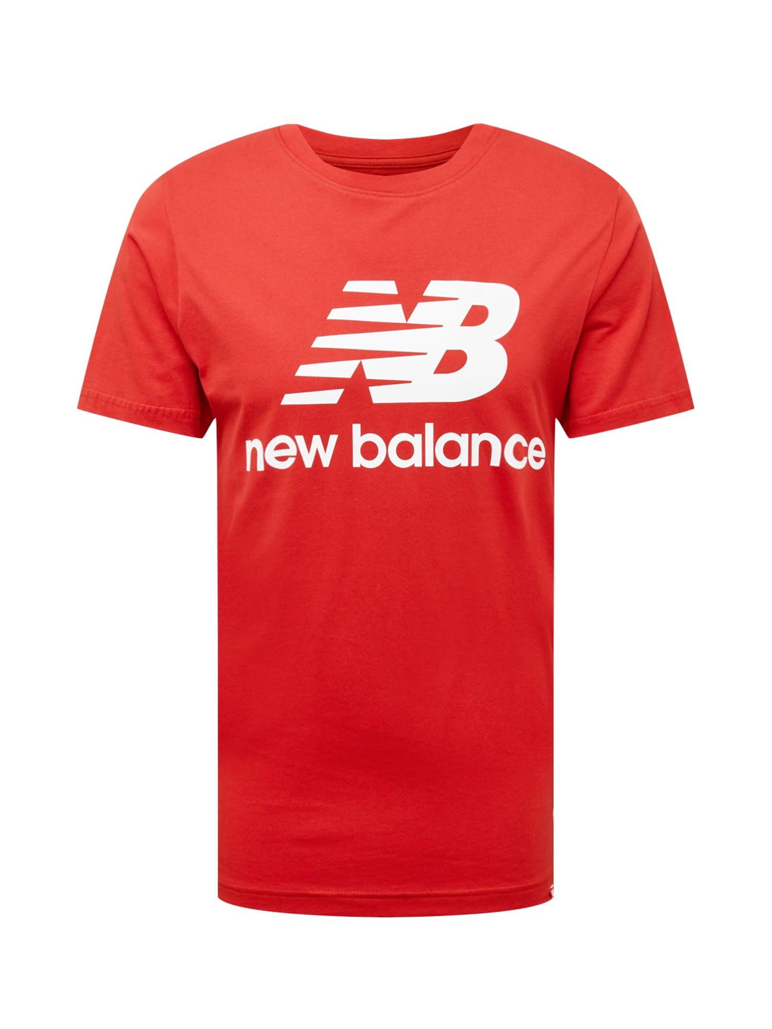 new balance Marškinėliai kraujo spalva / balta