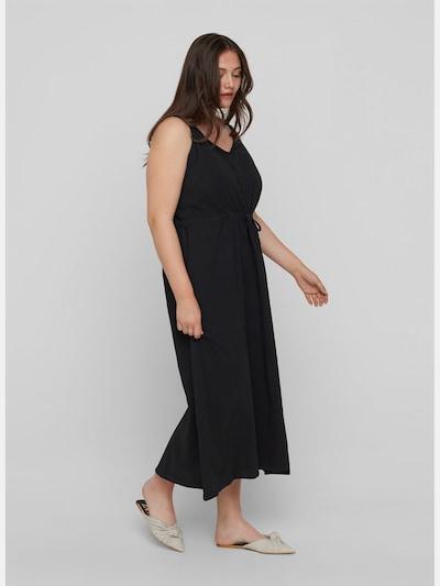 Kleid von Zizzi.  Tolles einfarbiges Maxikleid aus 100% Baumwolle mit dünnen verstellbaren Trägern. Das Kleid hat einen V-Ausschnitt, Smock am Rücken sowie einen Kordelzug an der Taille, der eine feminine Passform verleiht.