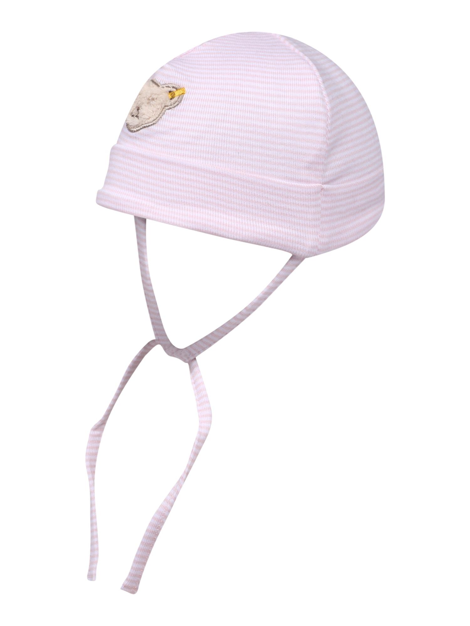 Steiff Collection Megzta kepurė rožių spalva / balta / šviesiai ruda