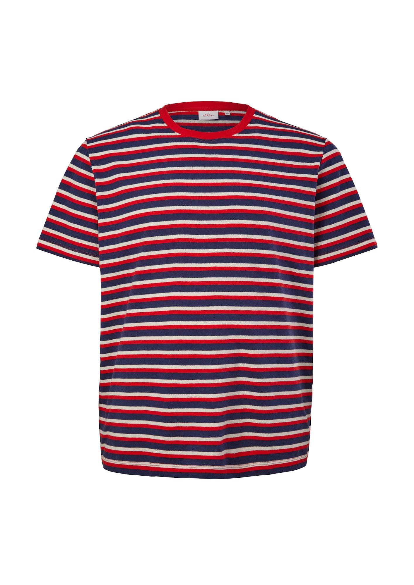 s.Oliver Red Label Big & Tall Marškinėliai raudona / mėlyna / balta