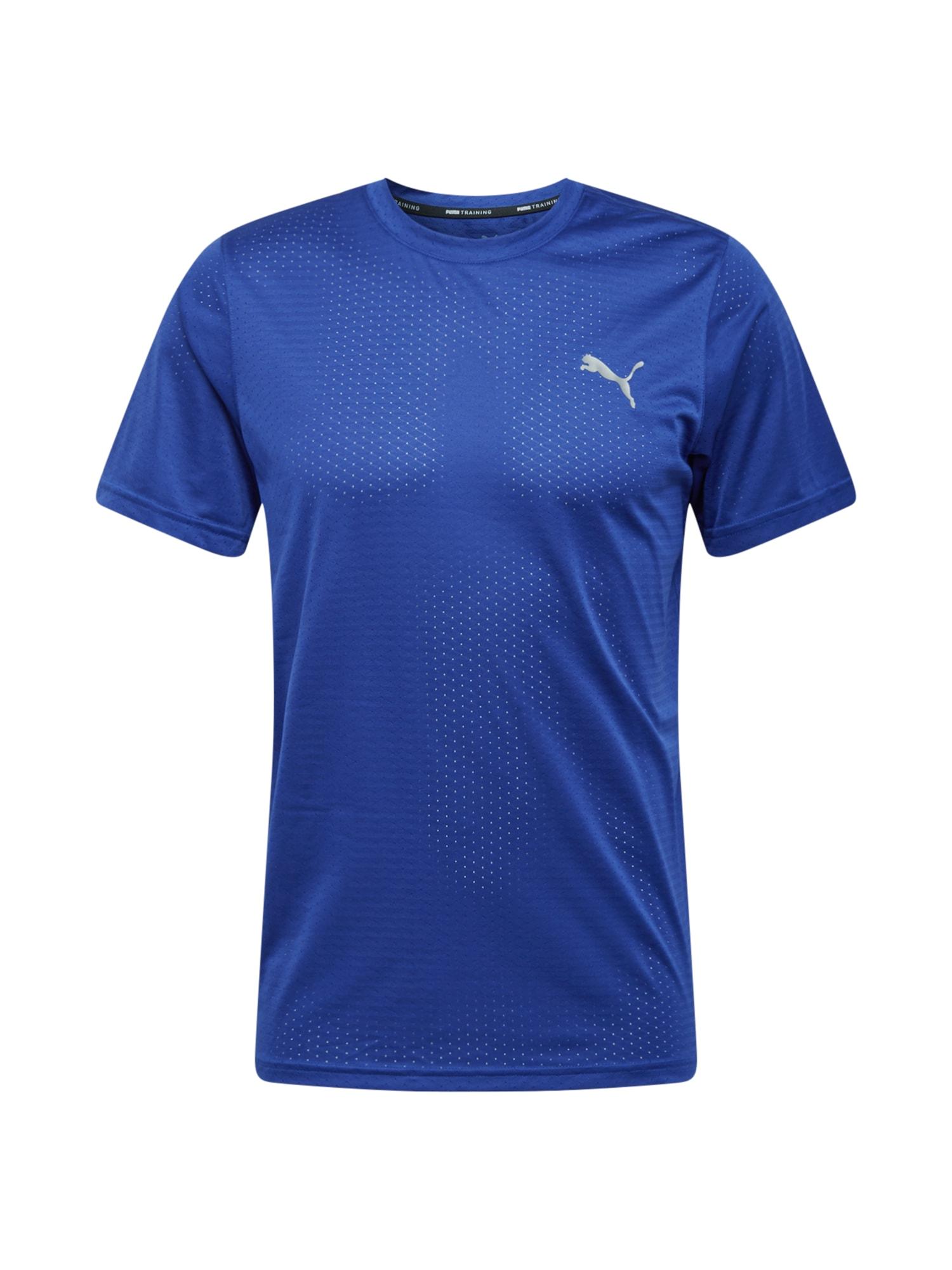 PUMA Sportiniai marškinėliai mėlyna / sidabrinė