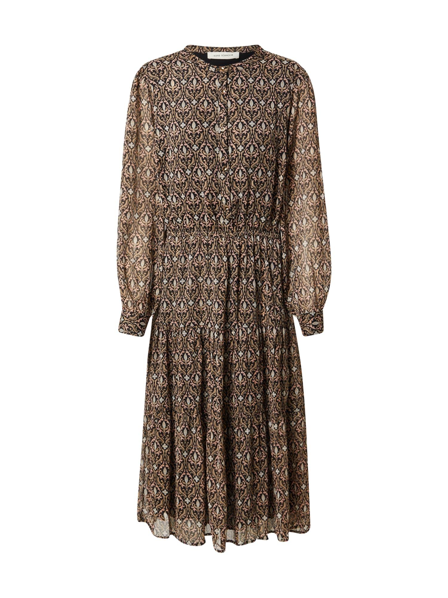 Sofie Schnoor Košilové šaty  černá / světle hnědá / bílá