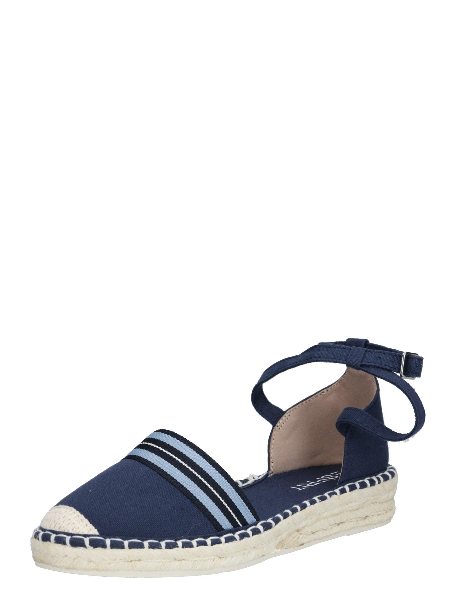 ESPRIT Sandále 'Ines'  biela / námornícka modrá / tmavomodrá