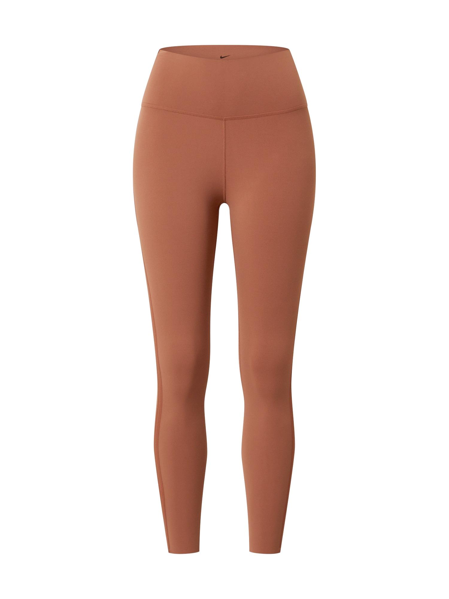 NIKE Sportovní kalhoty 'Yoga Luxe'  hnědá