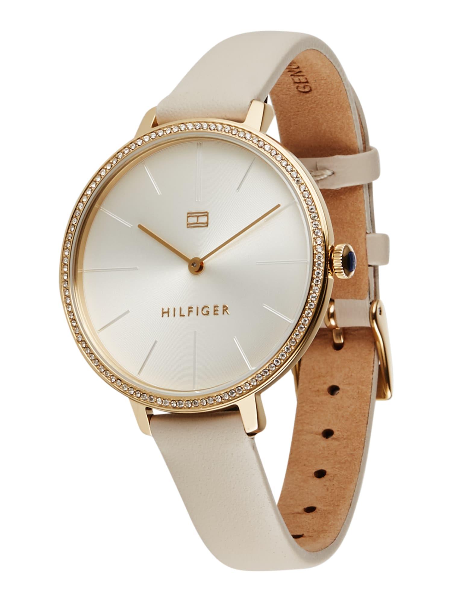 TOMMY HILFIGER Analoginis (įprasto dizaino) laikrodis auksas / pilka / šviesiai pilka