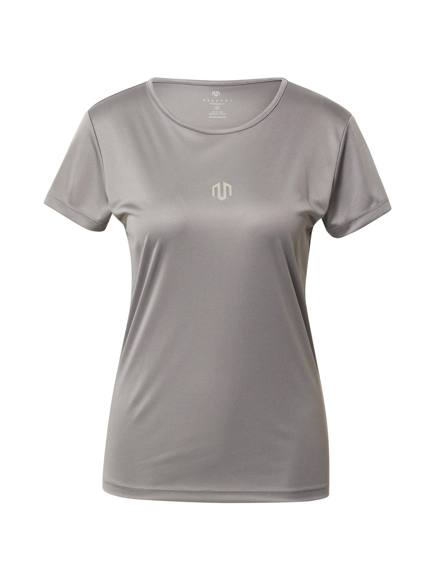 MOROTAI Sportiniai marškinėliai sidabro pilka / balta