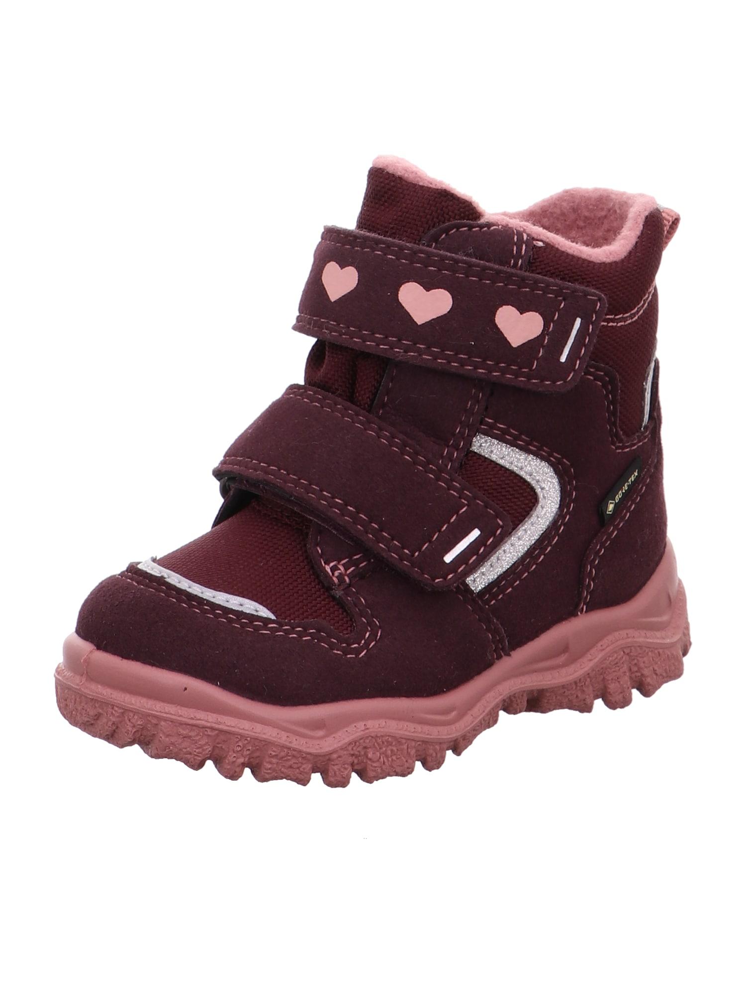 SUPERFIT Sniego batai 'Husky' rožinė / vyno raudona spalva