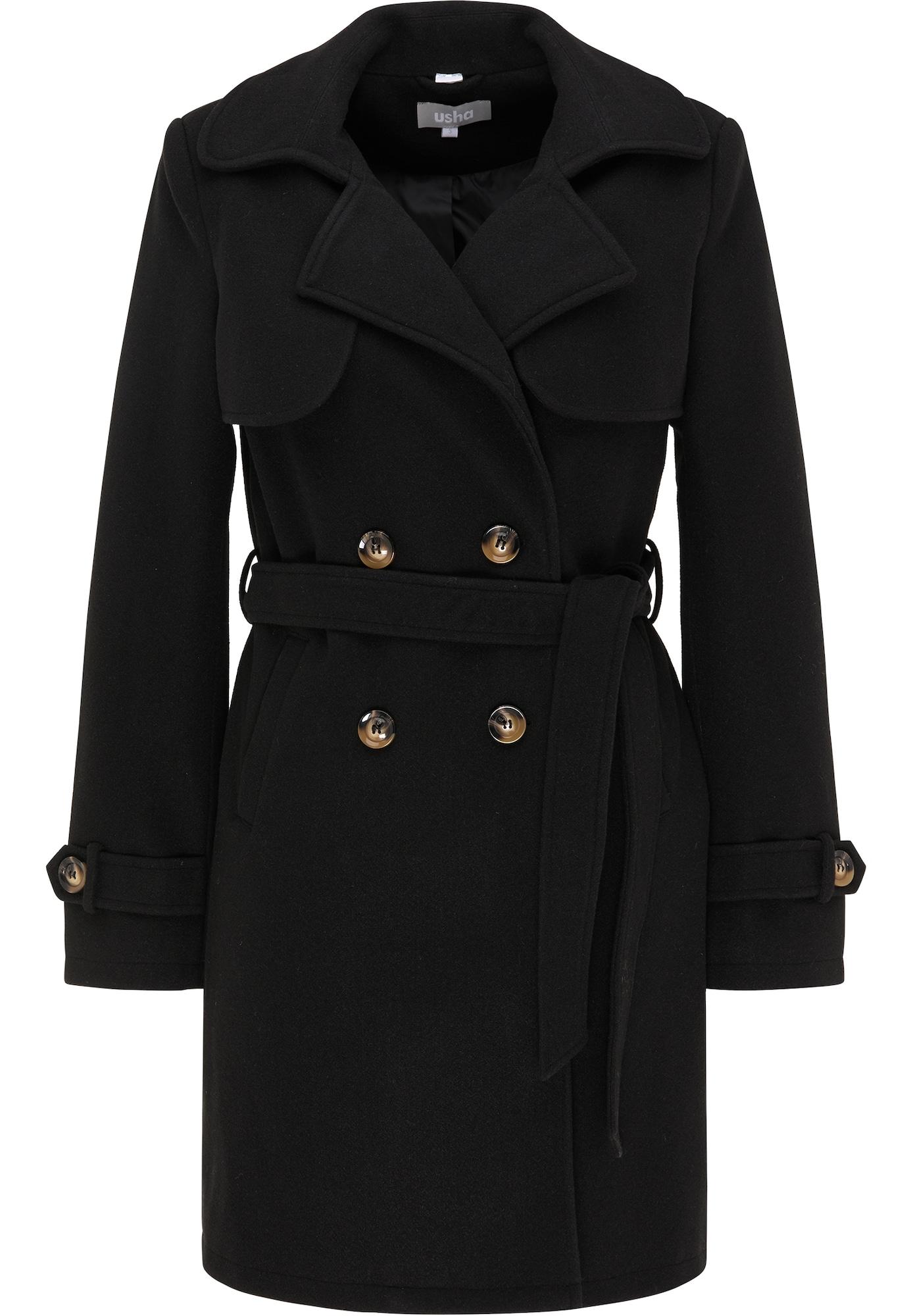 Usha Demisezoninis paltas juoda