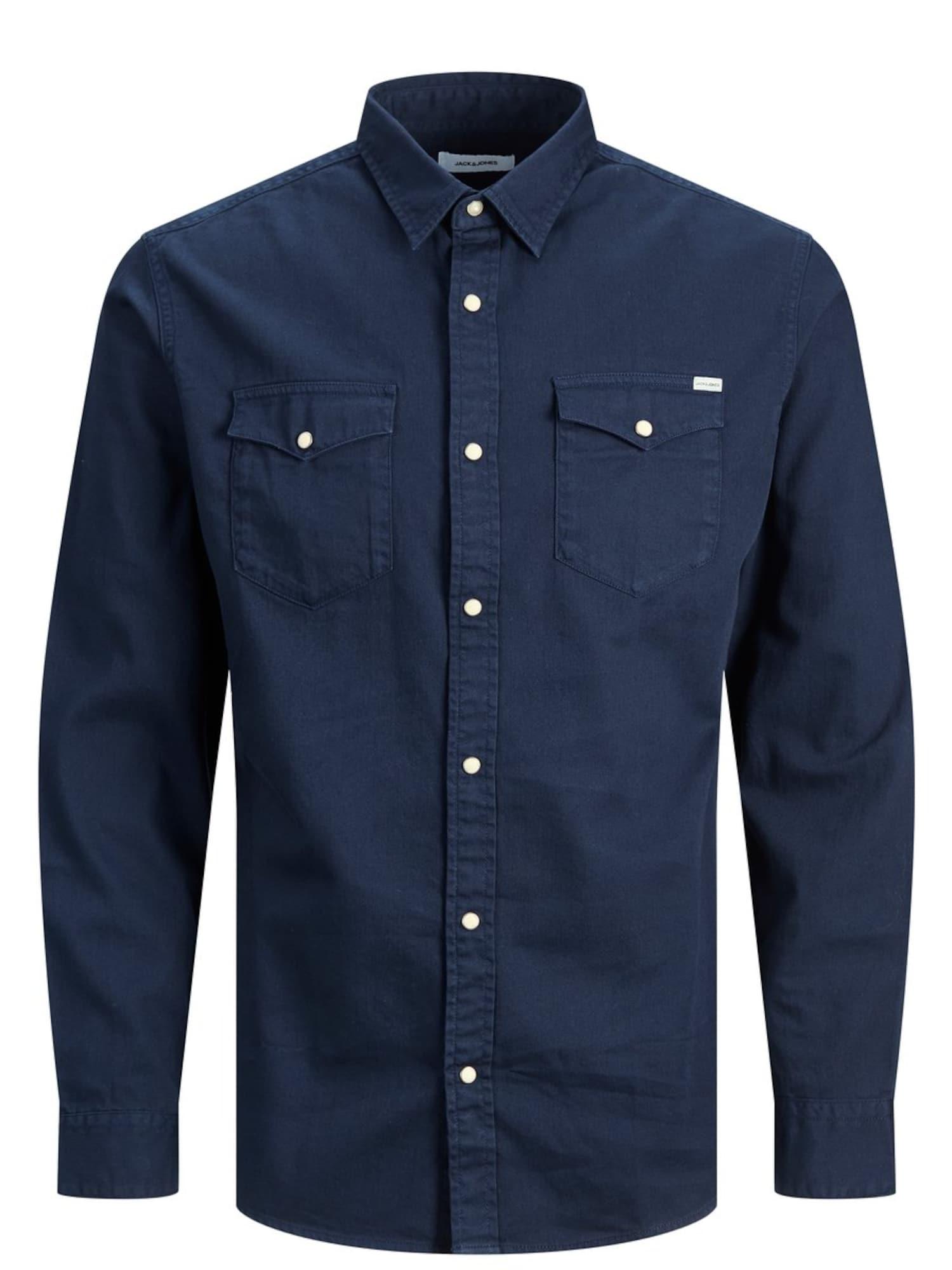 JACK & JONES Marškiniai nakties mėlyna