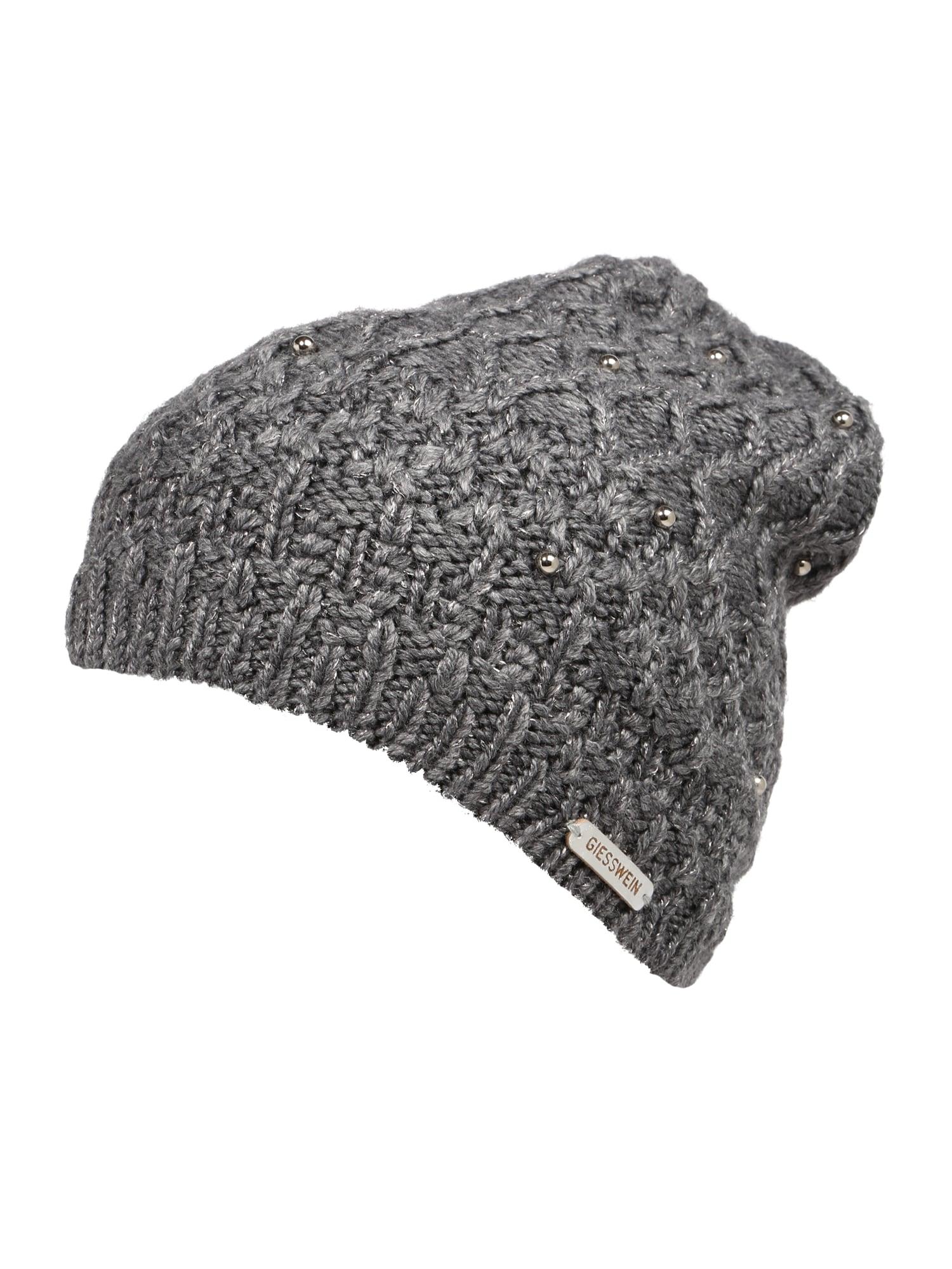 GIESSWEIN Megzta kepurė pilka