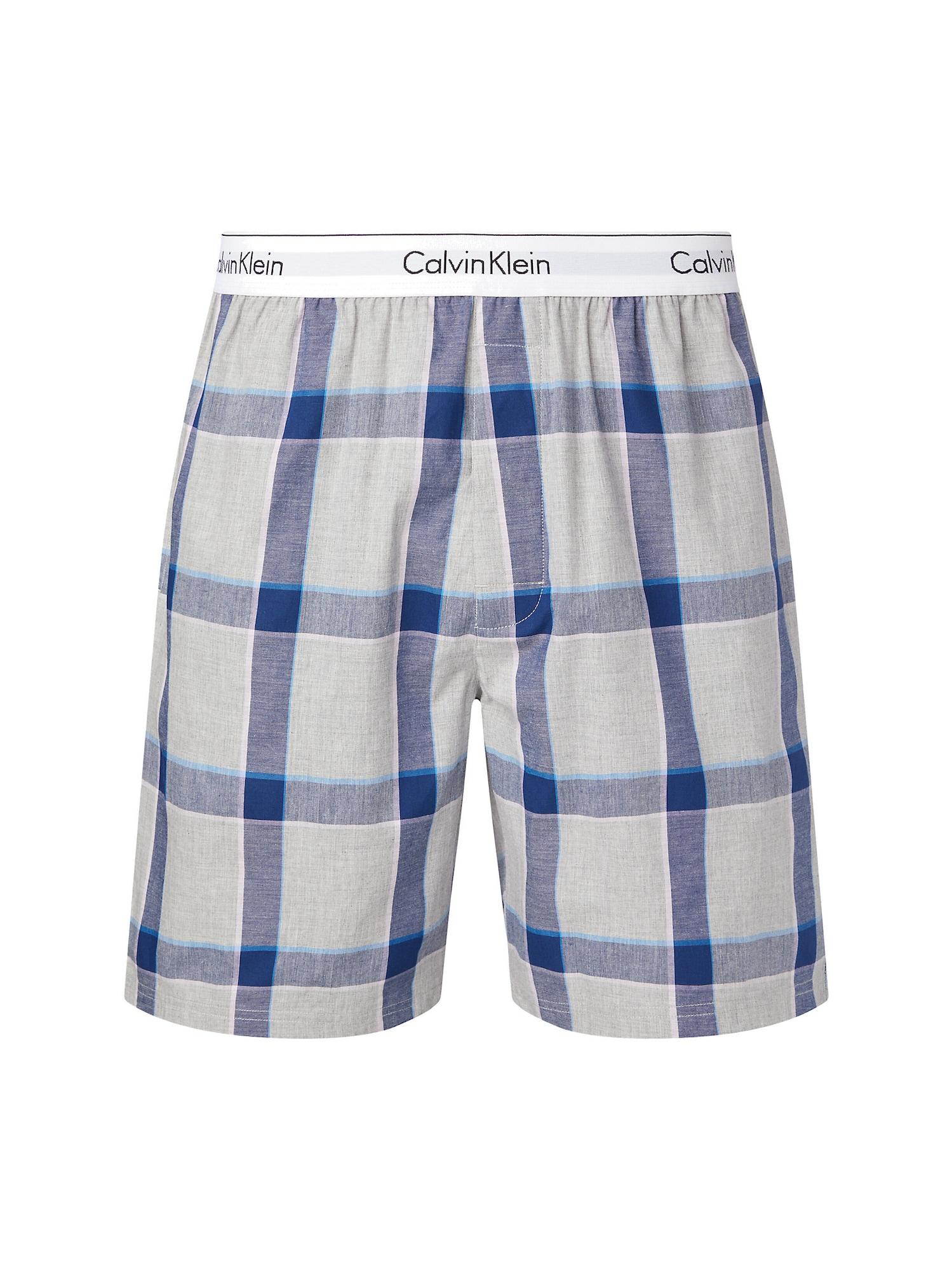 Calvin Klein Underwear Pyžamové kalhoty  šedá / chladná modrá / modrá / světlemodrá