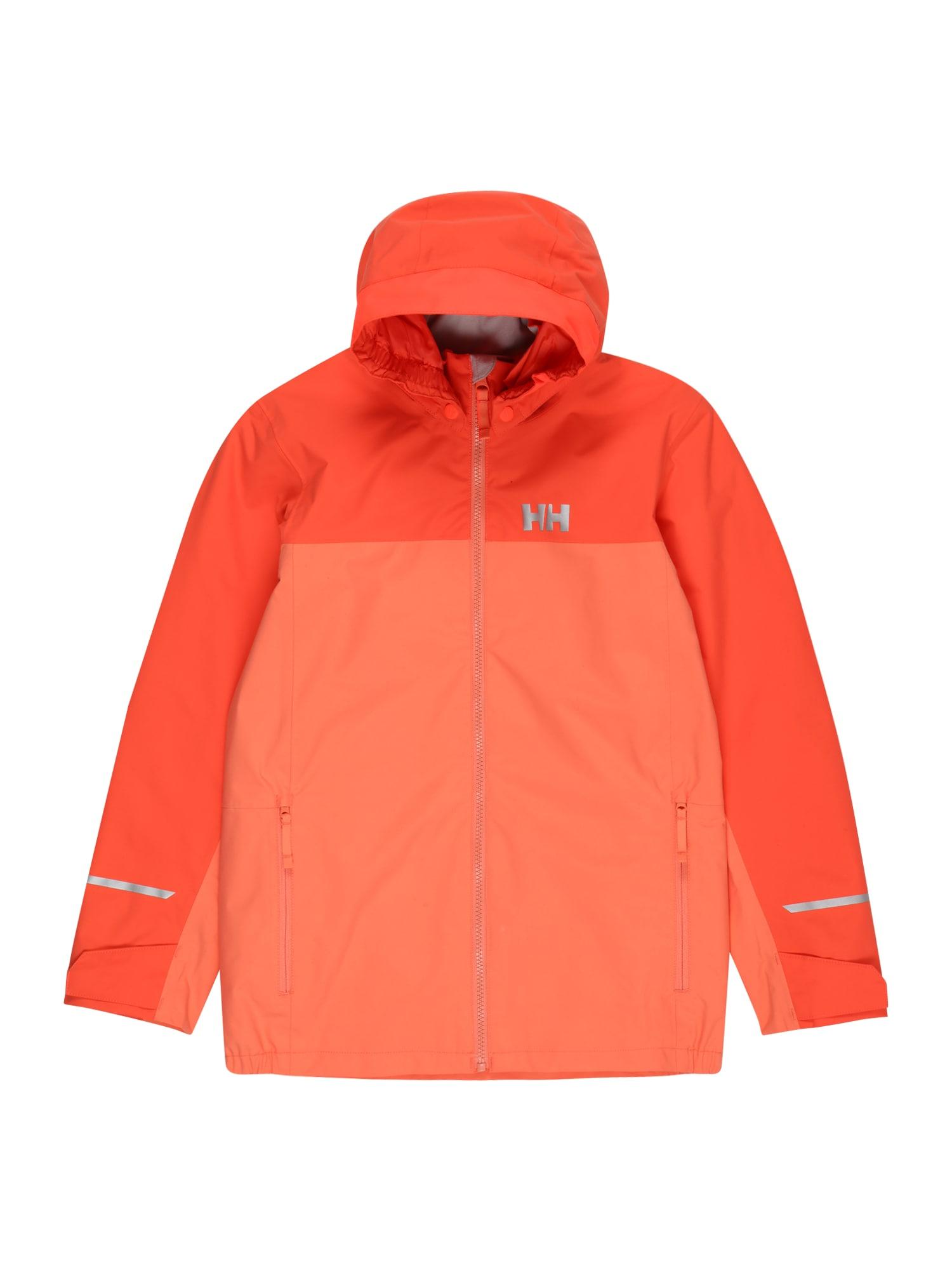 HELLY HANSEN Laisvalaikio striukė 'SHELTER' persikų spalva / tamsiai oranžinė / sidabrinė