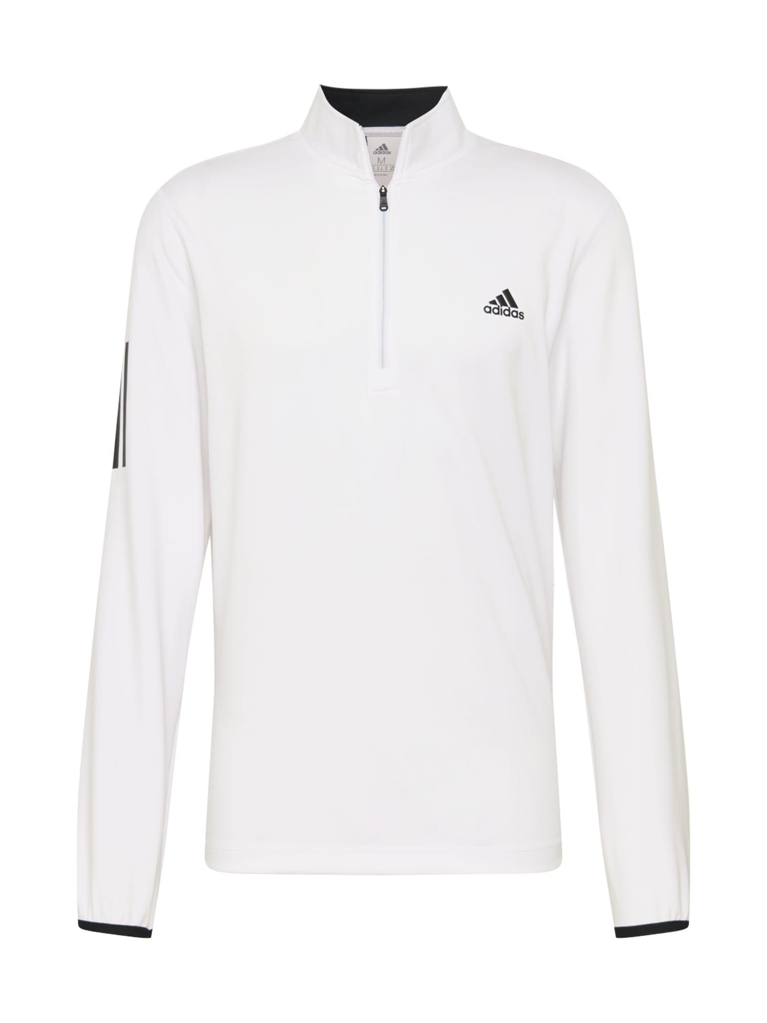 adidas Golf Sportovní mikina  černá / přírodní bílá