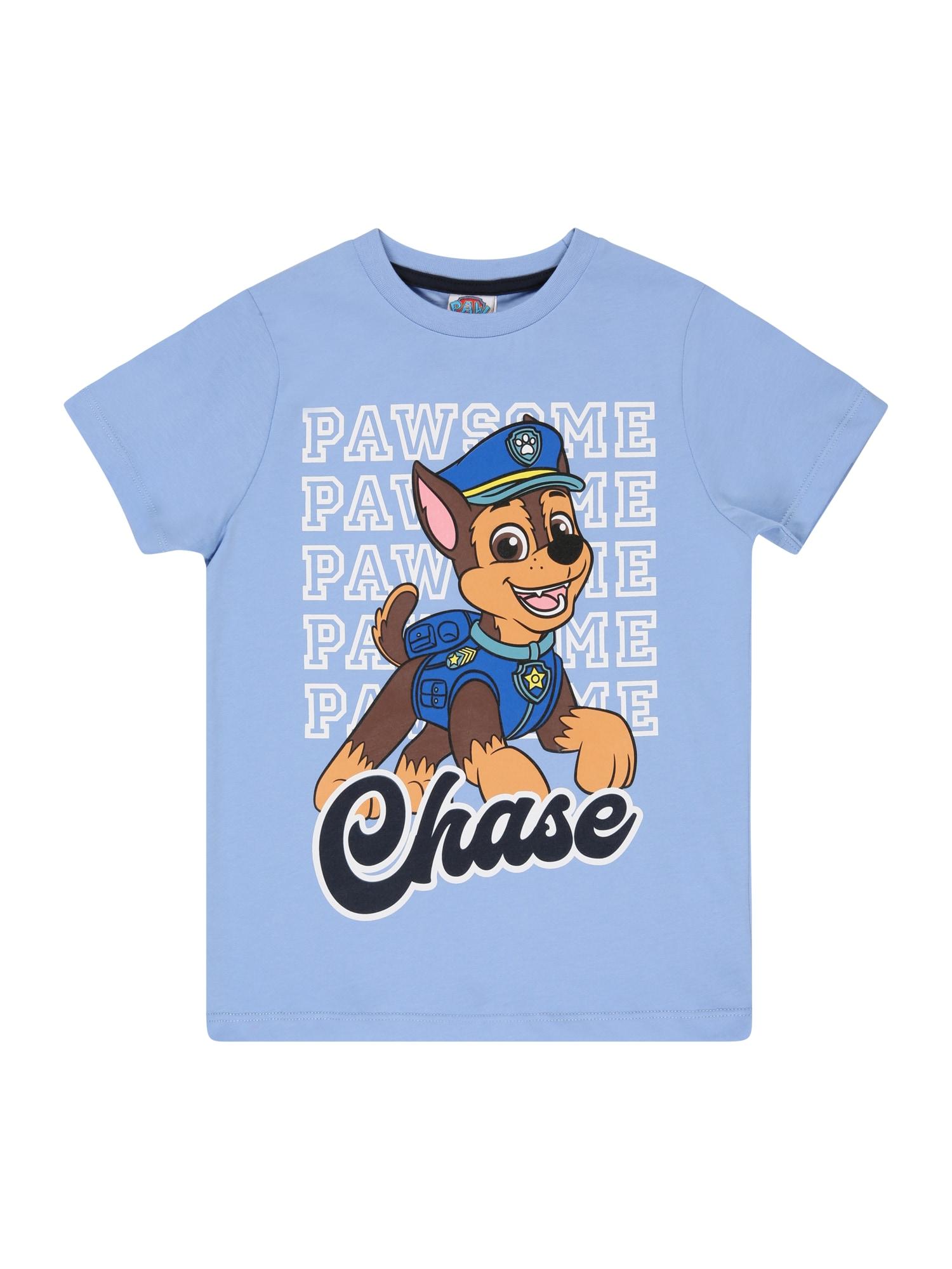 PAW Patrol Marškinėliai mėlyna dūmų spalva / tamsiai mėlyna / balta / ruda / rožių spalva