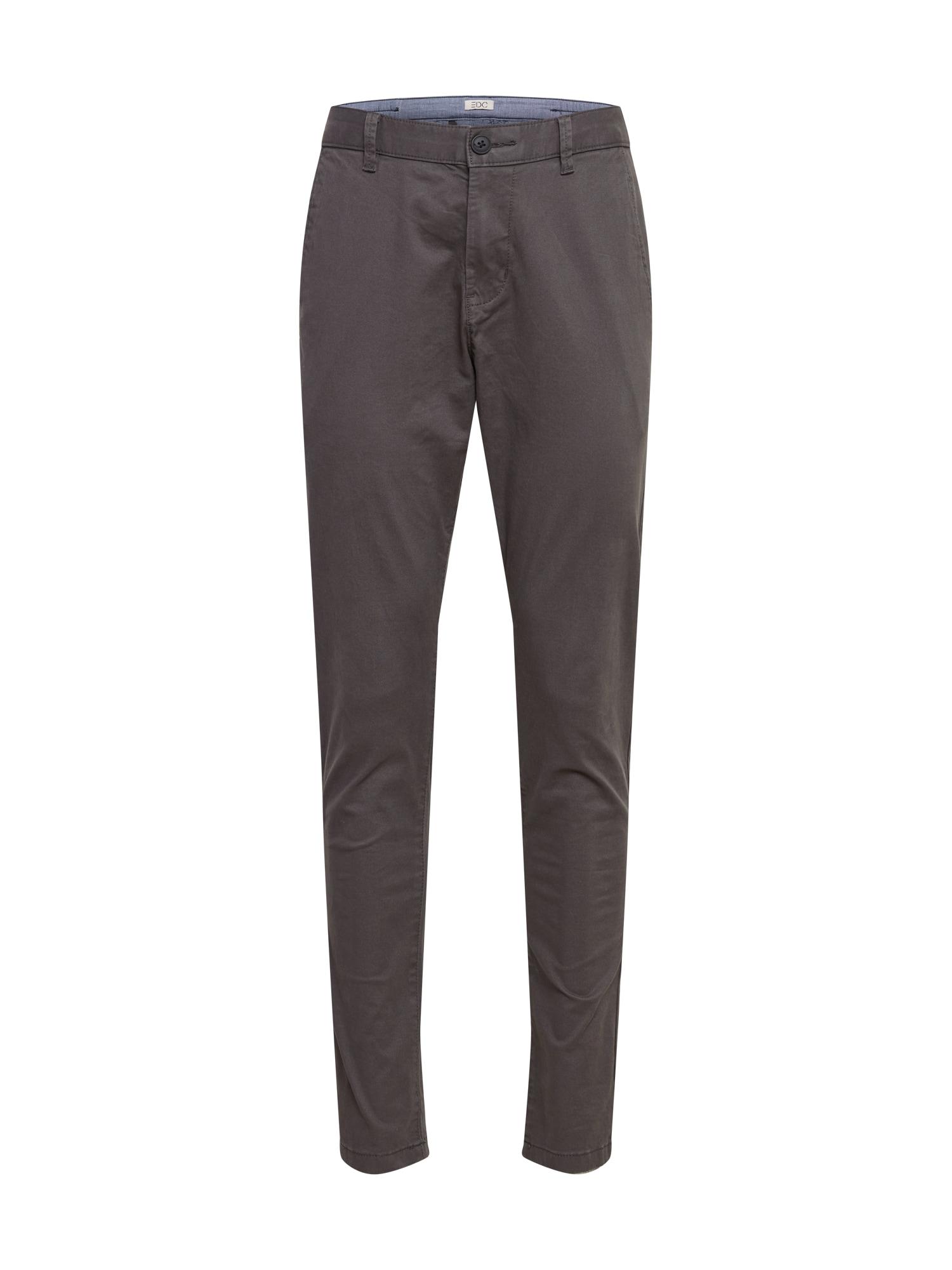 EDC BY ESPRIT Chino kalhoty  šedá