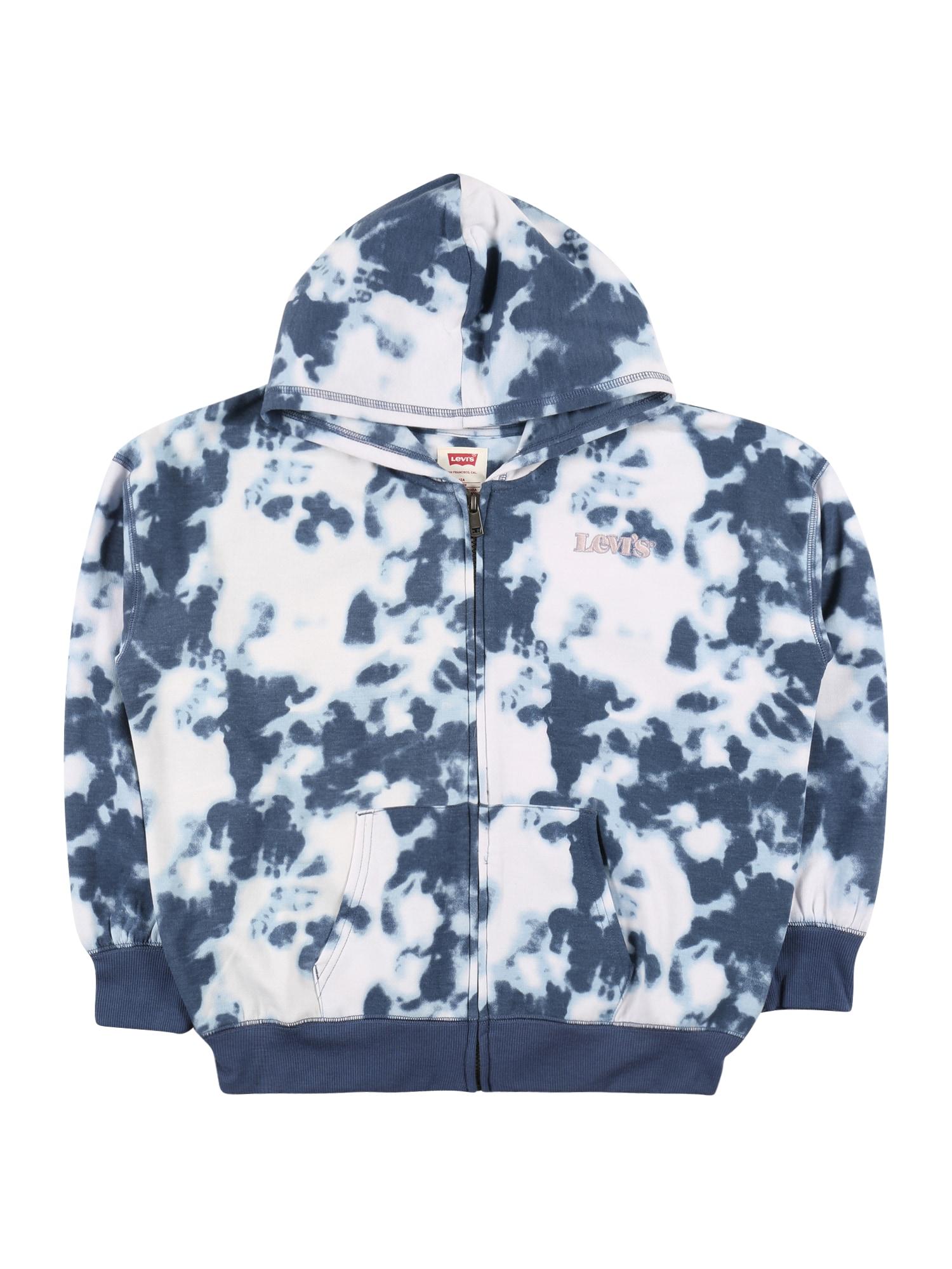 LEVI'S Mikina s kapucí  bílá / modrá