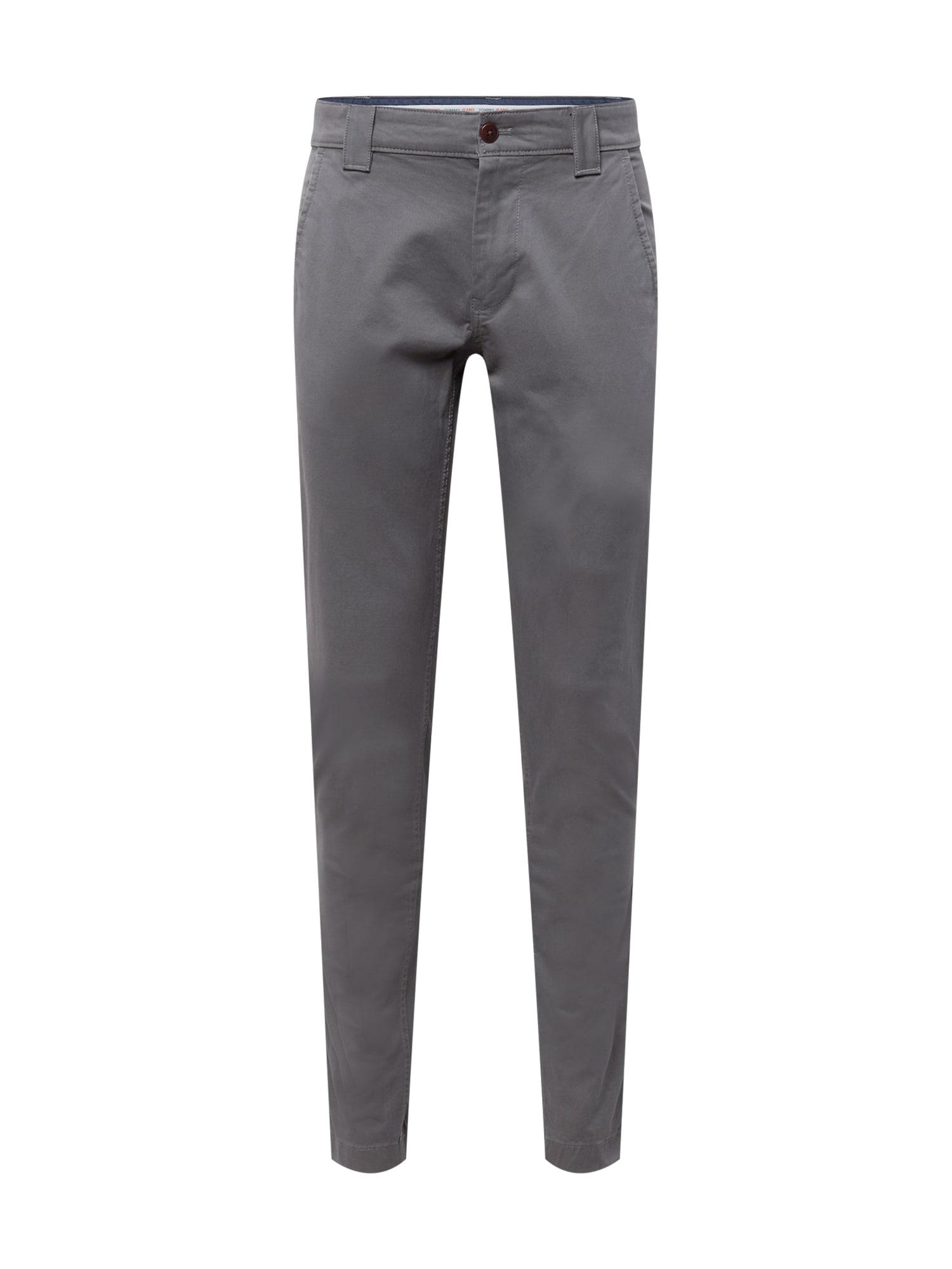 Tommy Jeans Chino kalhoty  tmavě šedá