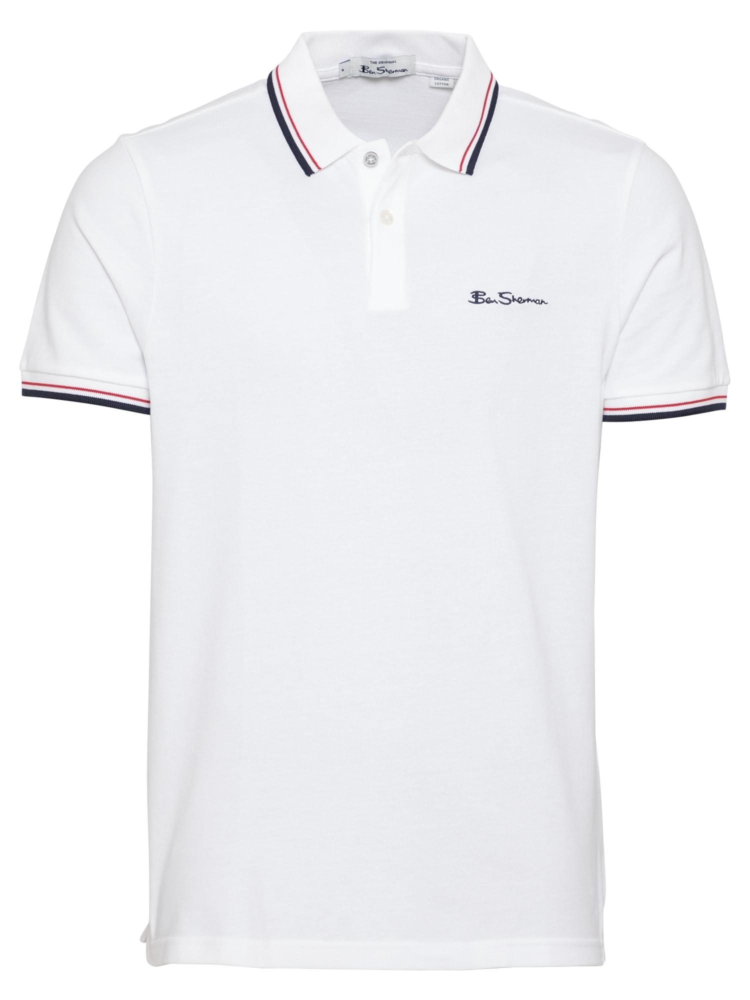Ben Sherman Marškinėliai tamsiai mėlyna / balta / raudona
