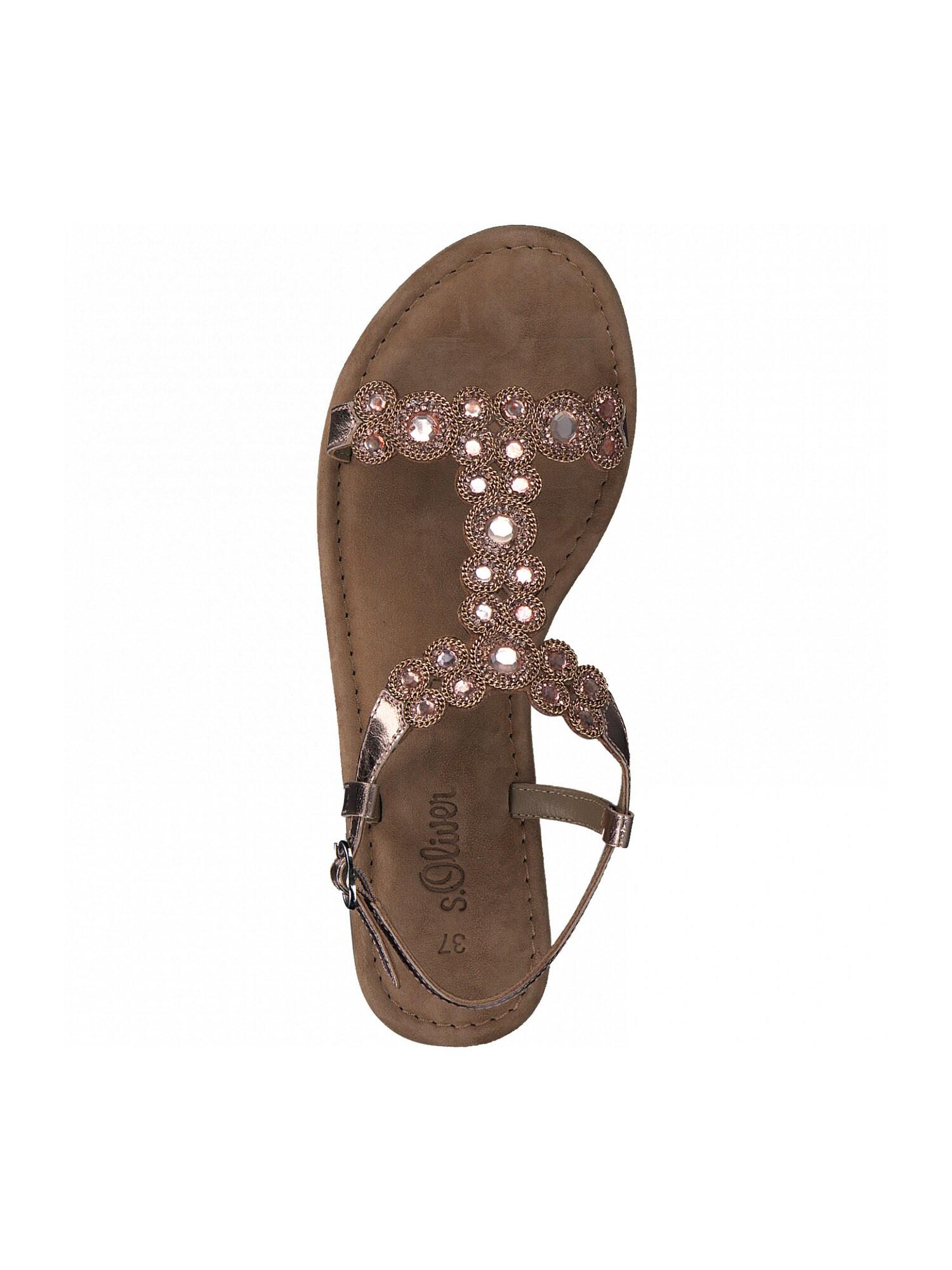 s.Oliver Remienkové sandále  ružové zlato.
