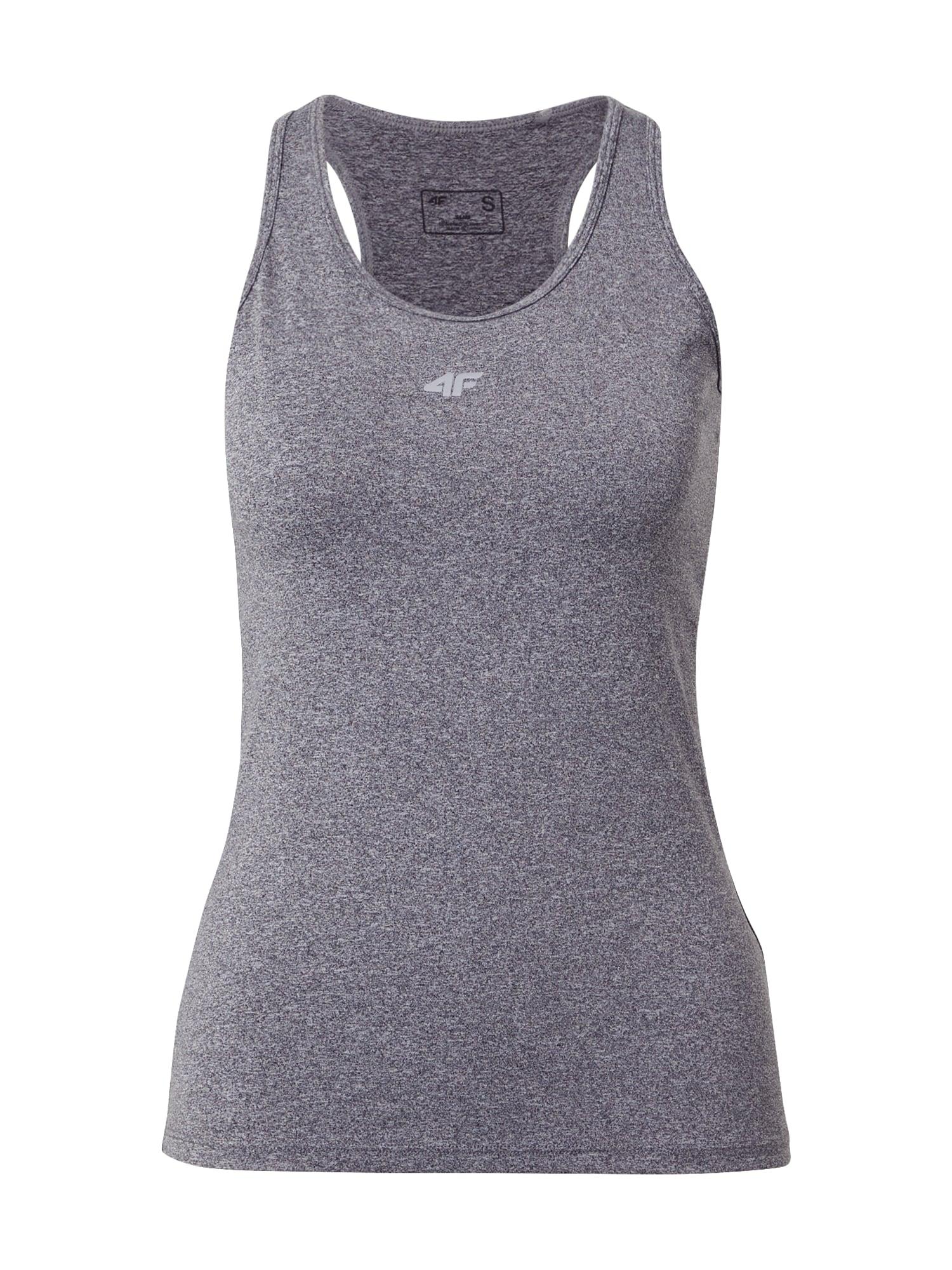 4F Sportiniai marškinėliai be rankovių margai pilka
