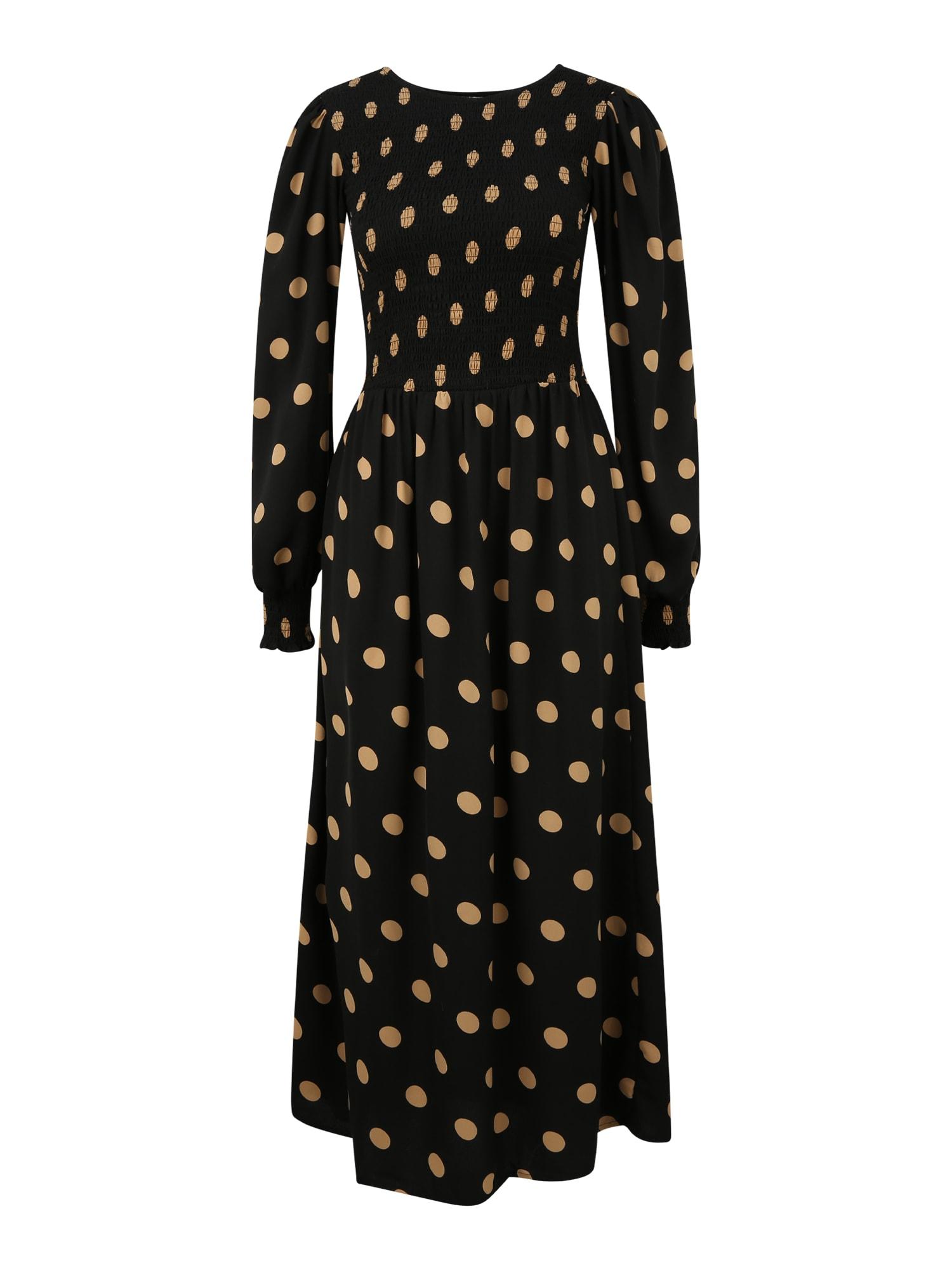 Dorothy Perkins (Tall) Suknelė juoda / smėlio spalva