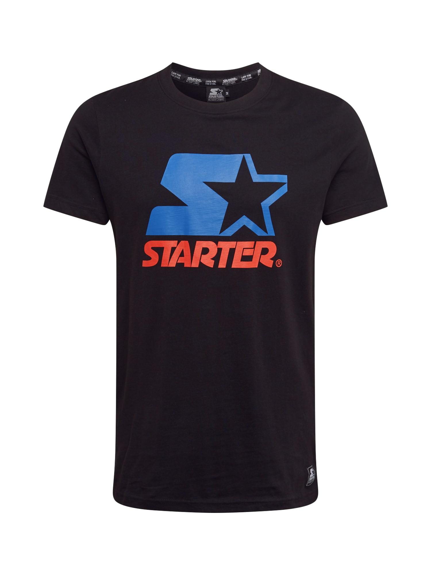Starter Black Label Marškinėliai juoda / mėlyna / raudona