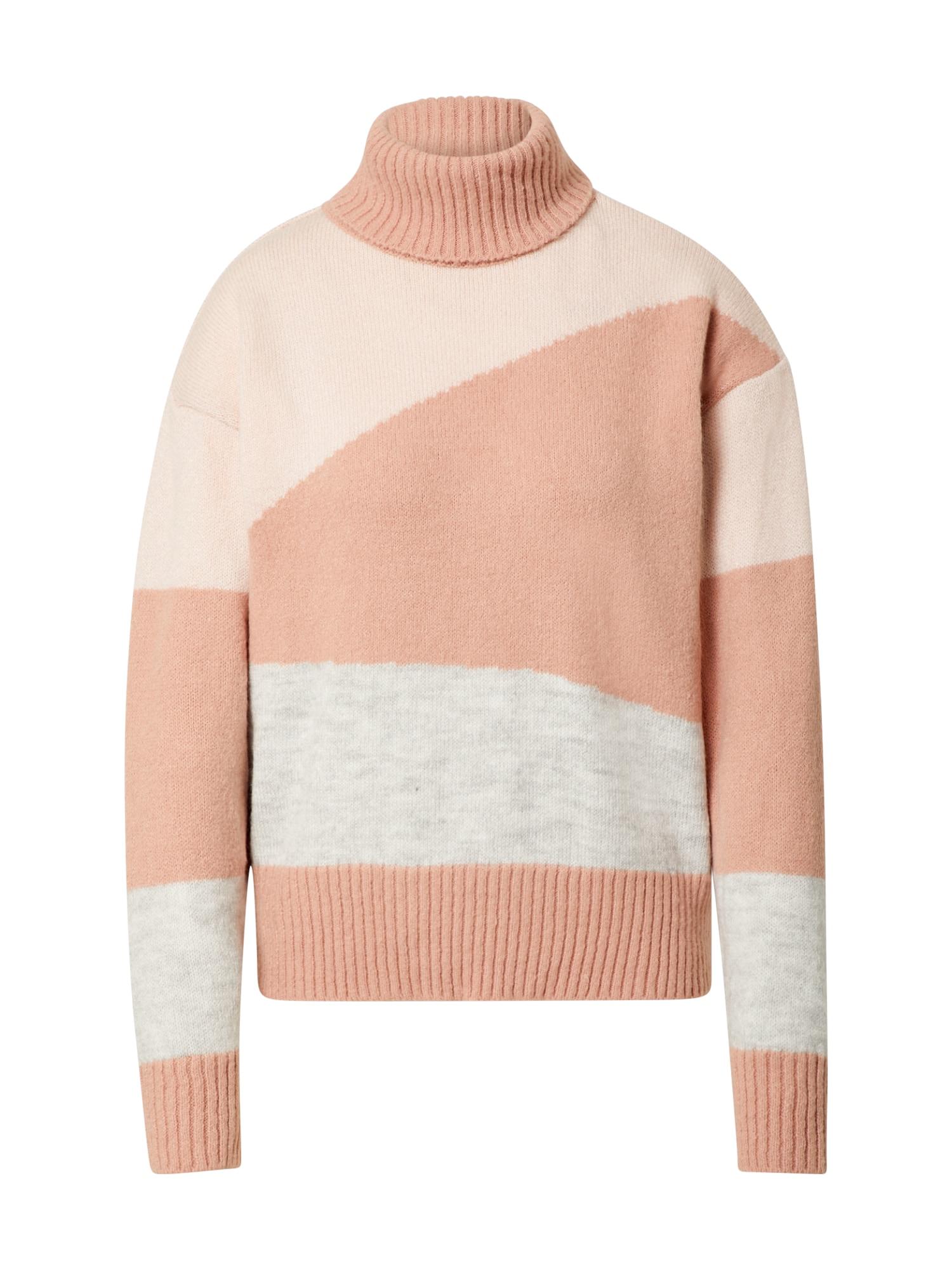 NA-KD Megztinis rožių spalva / ryškiai rožinė spalva / margai pilka