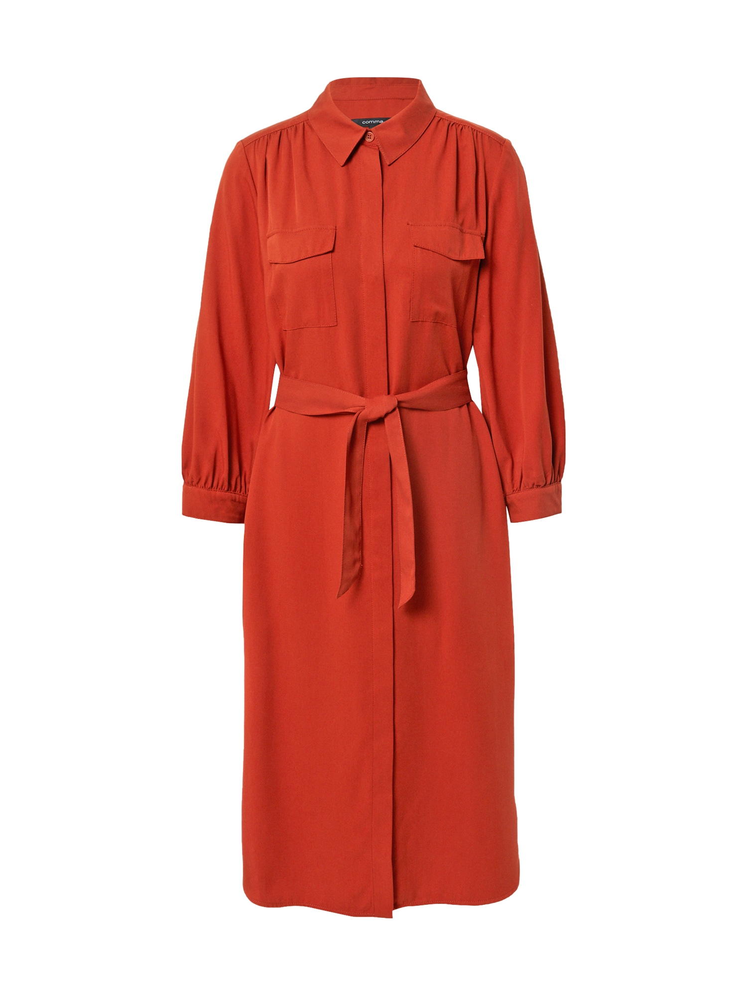 COMMA Košilové šaty  tmavě oranžová